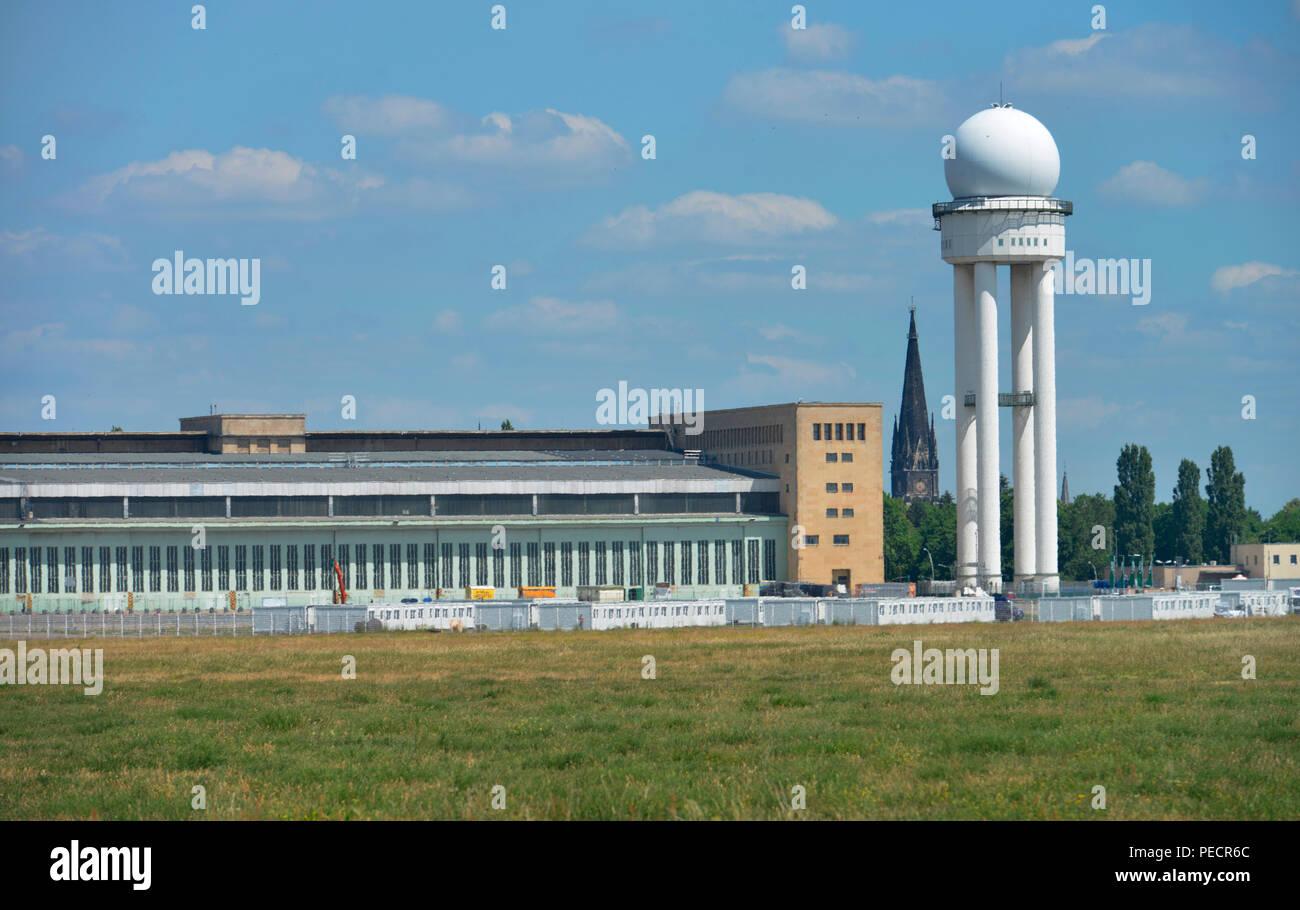 Flughafen Tempelhof, Tempelhofer Feld, Tempelhof, Berlin, Deutschland - Stock Image