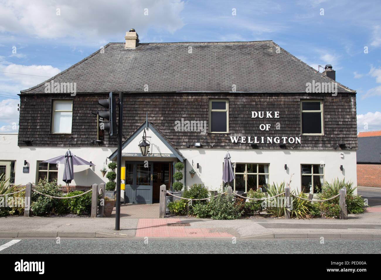 Duke of Wellington English pub/restaurant in Durham, County Durham, England. - Stock Image