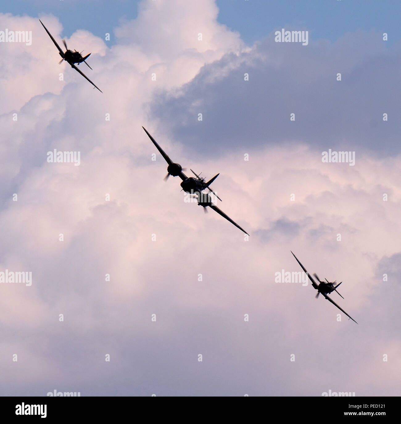 The Bristol Blenheim is a British light bomber aircraft designed and built by the Bristol Aeroplane Company. Used extensively in early war years. - Stock Image