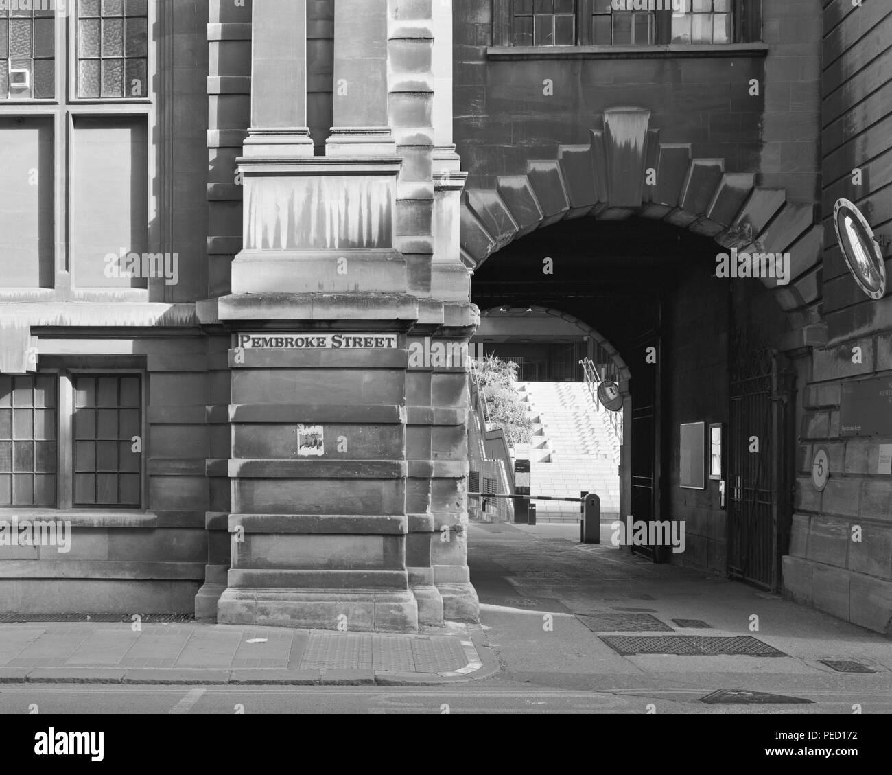 Pembroke Arch entrance to the Cambridge Museum of Zoology - Stock Image