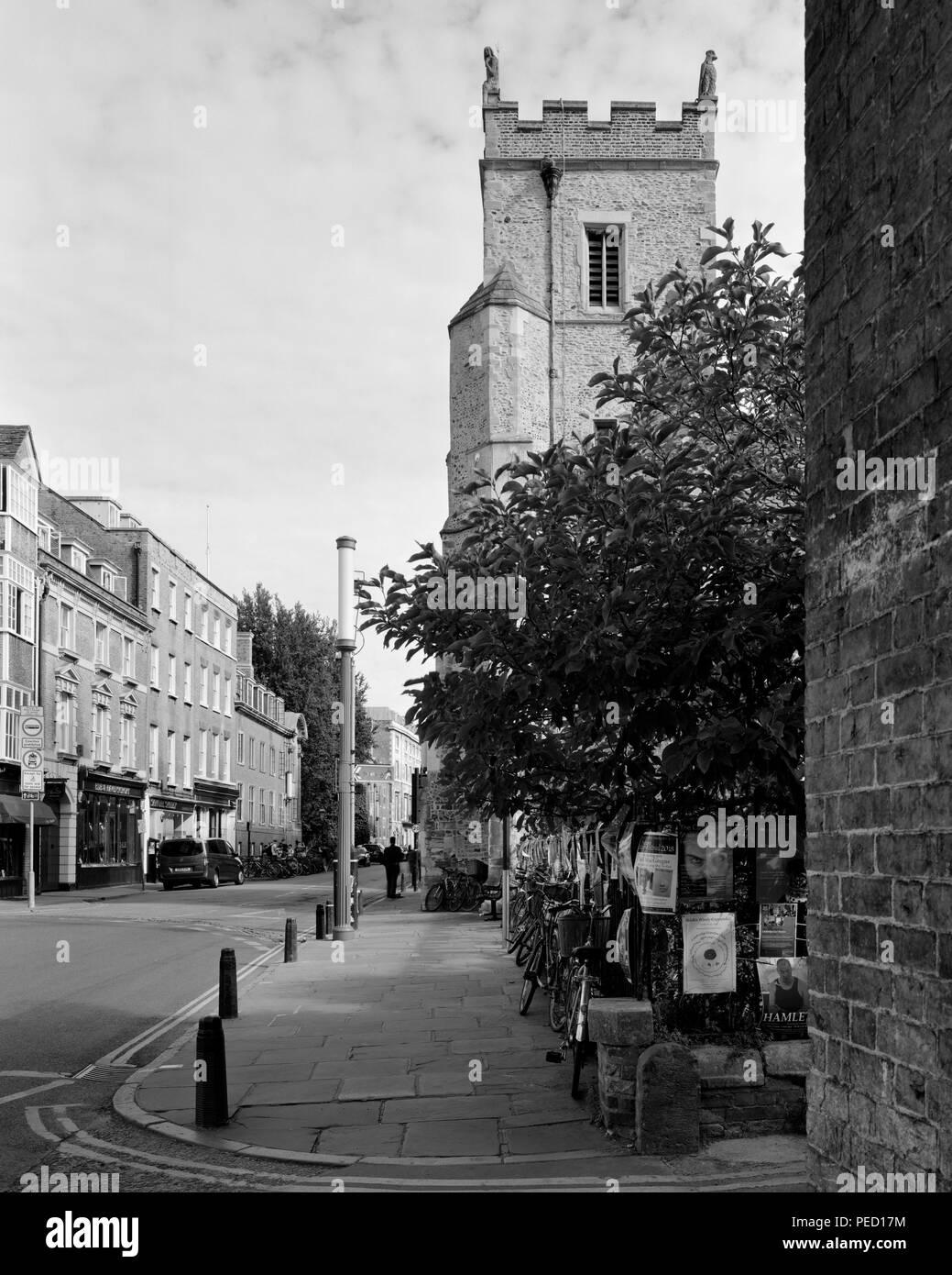 St Botolph's Church Trumpington Street Cambridge Stock Photo