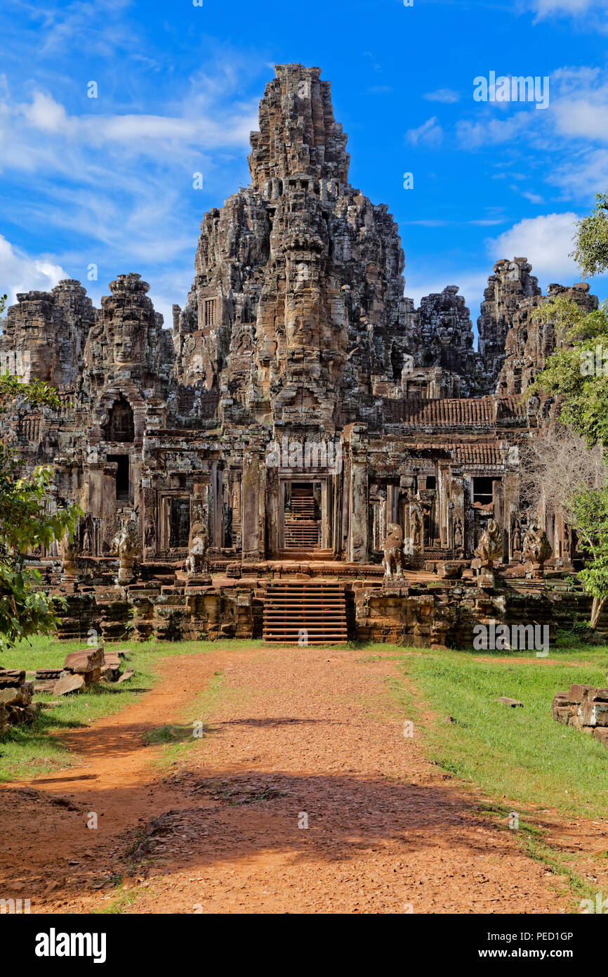 Entering The Bayon Temple Complex, Siem Reap, Cambodia - Stock Image