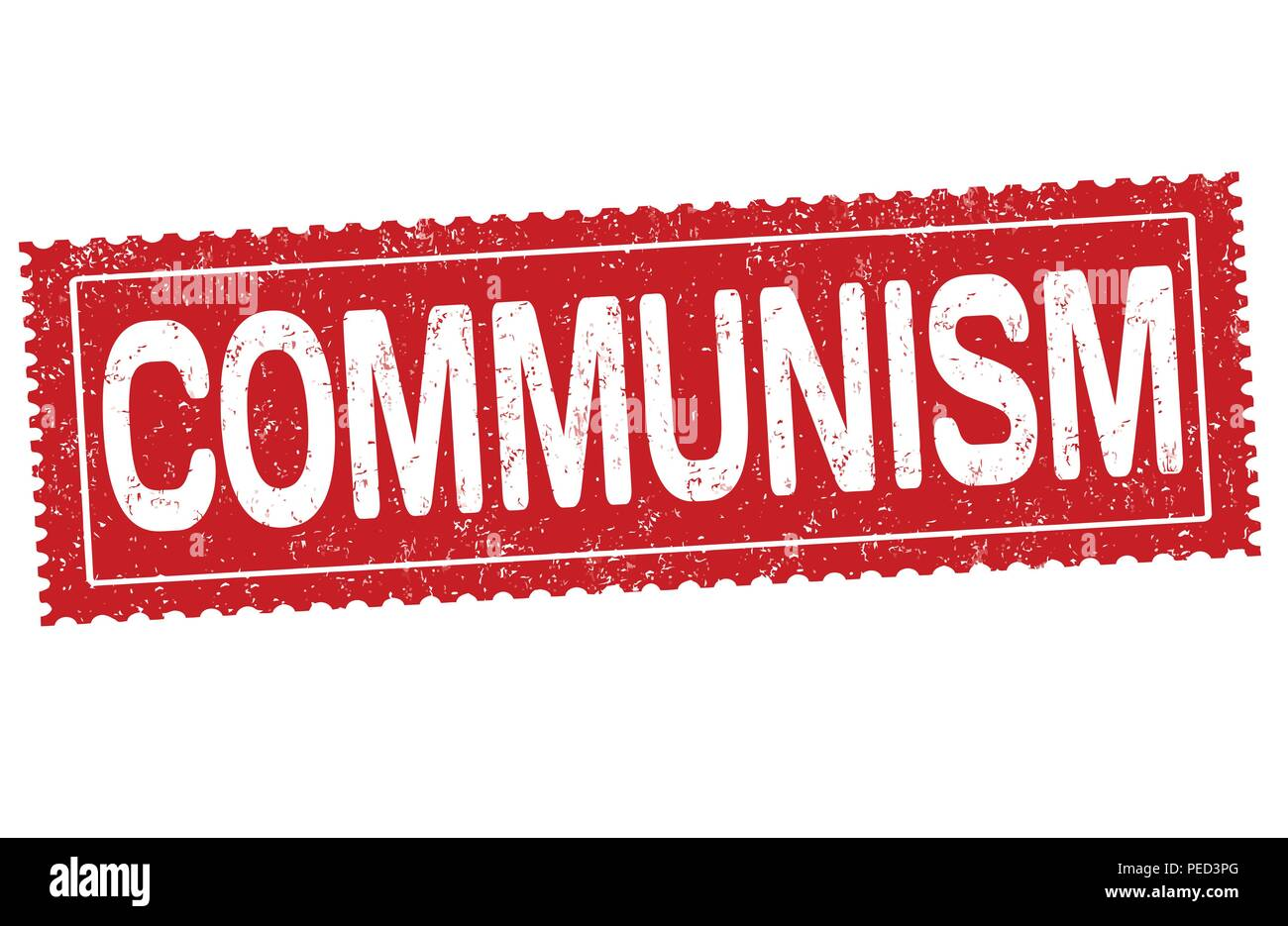 Communism sign or stamp on white background, vector illustration - Stock Vector