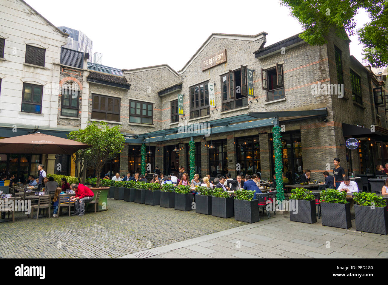 French Concession shopping and eating area of Shanghai China Asia - Stock Image