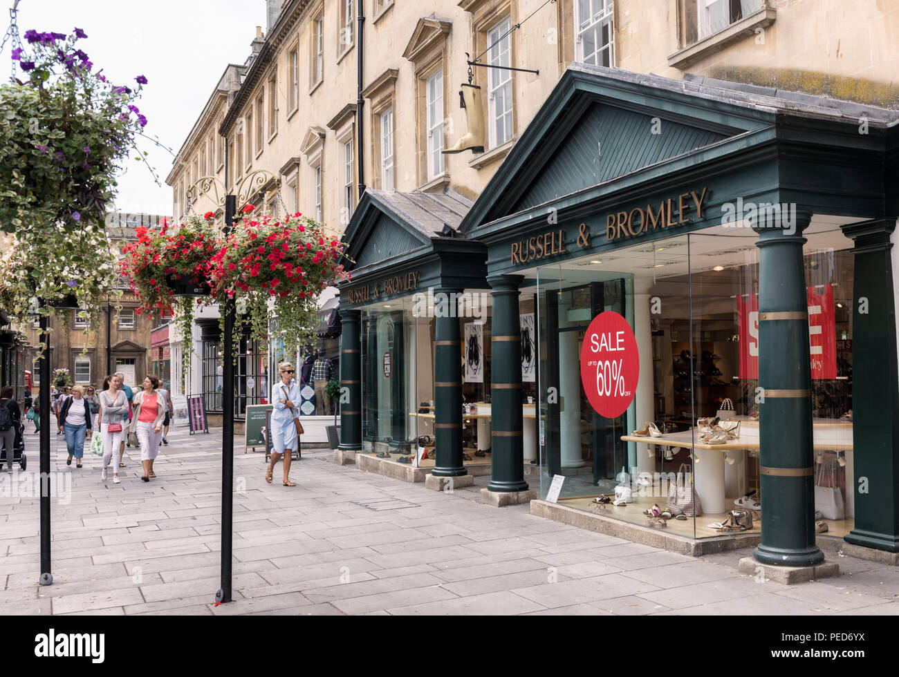 Russell & Bromley store in Old Bond Street, Bath, England - Stock Image