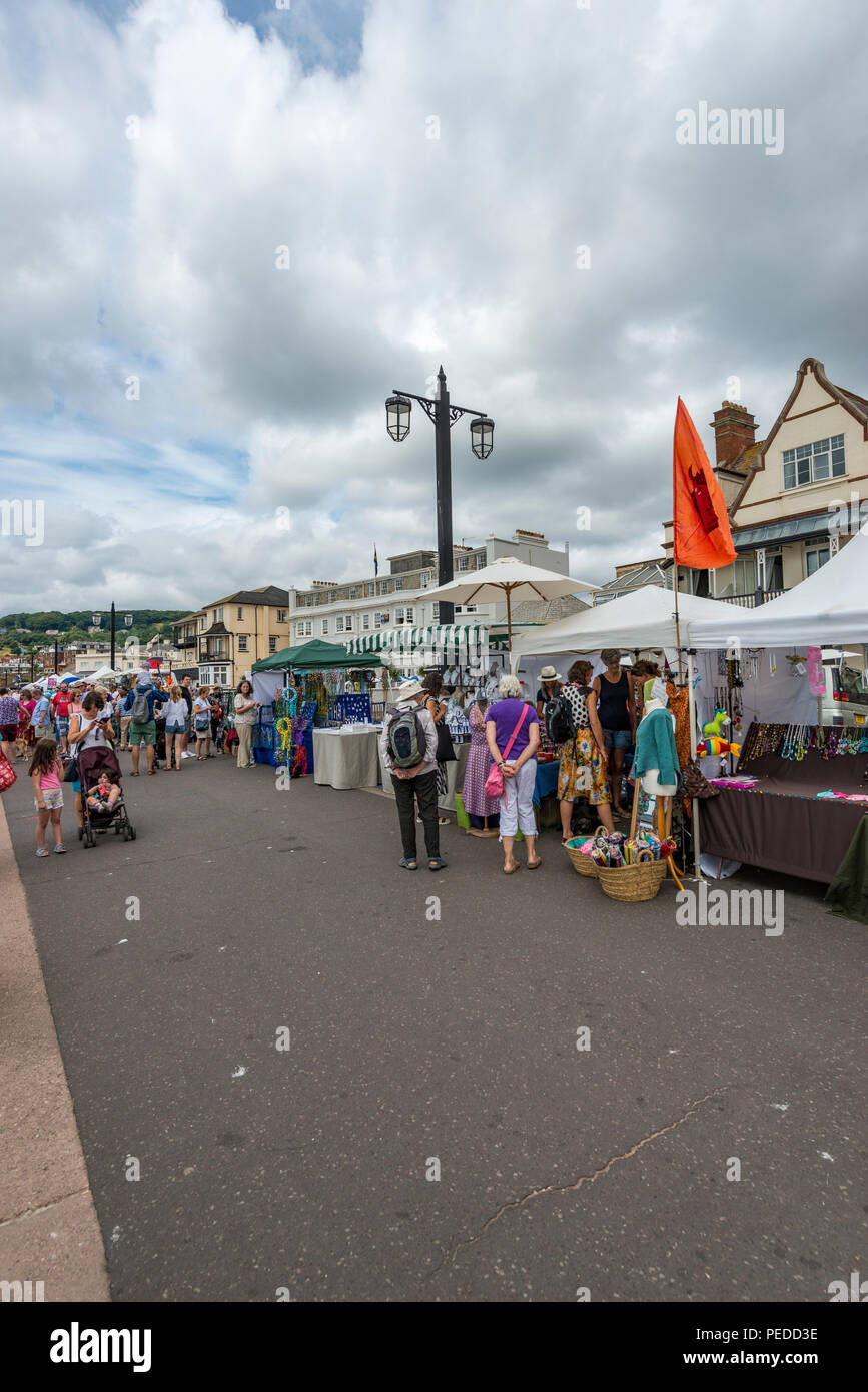Street Scen, Sidmouth, Deveon, UK - Stock Image