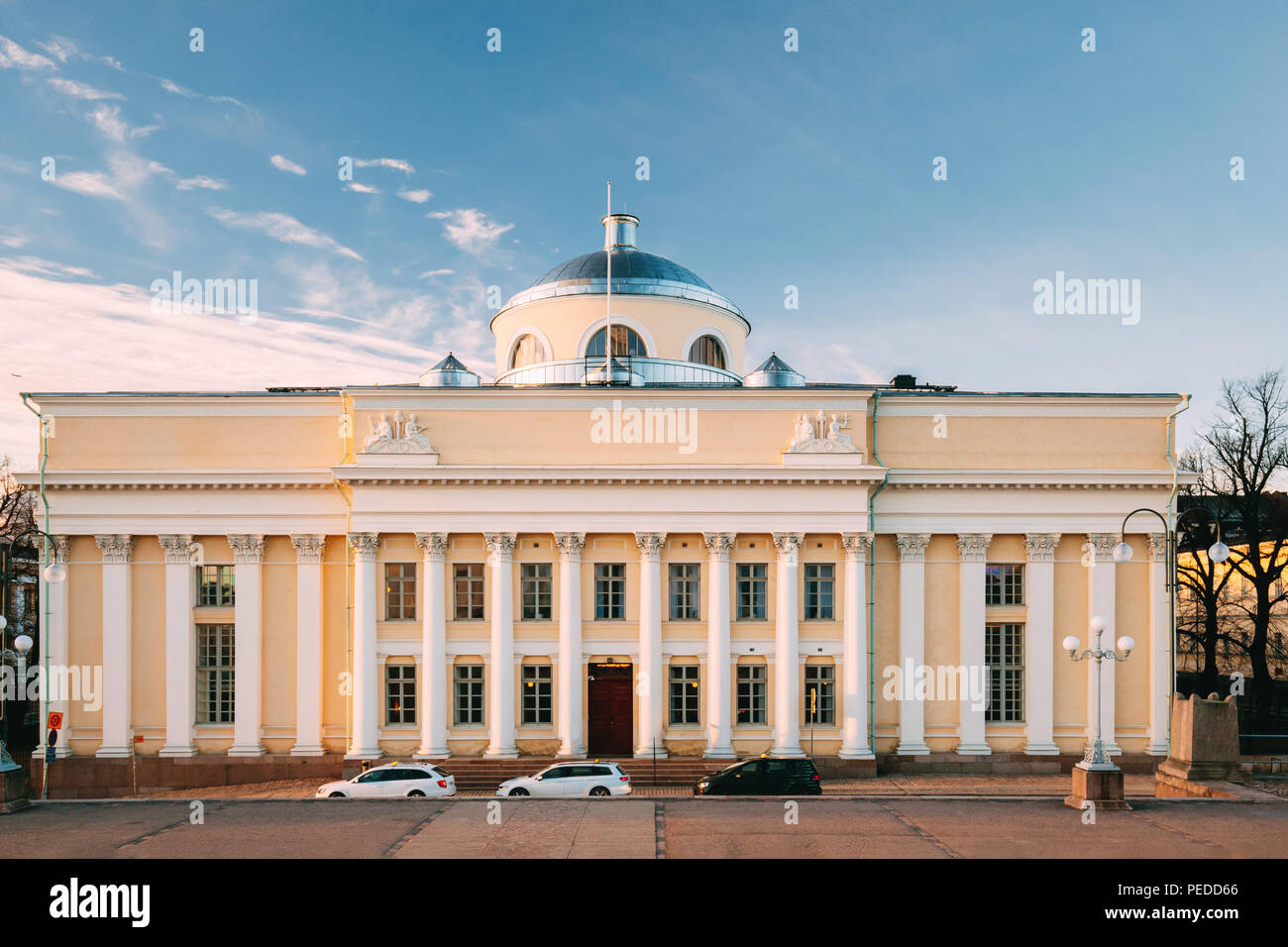 Helsinki, Finland. View Of National Library Of Finland. Administratively The Library Is Part Of The University Of Helsinki. Famous Landmark. - Stock Image