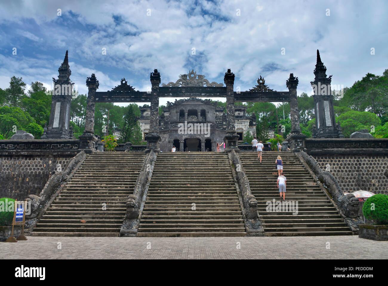Kaisergrab Khai Dinh, Hue, Vietnam - Stock Image