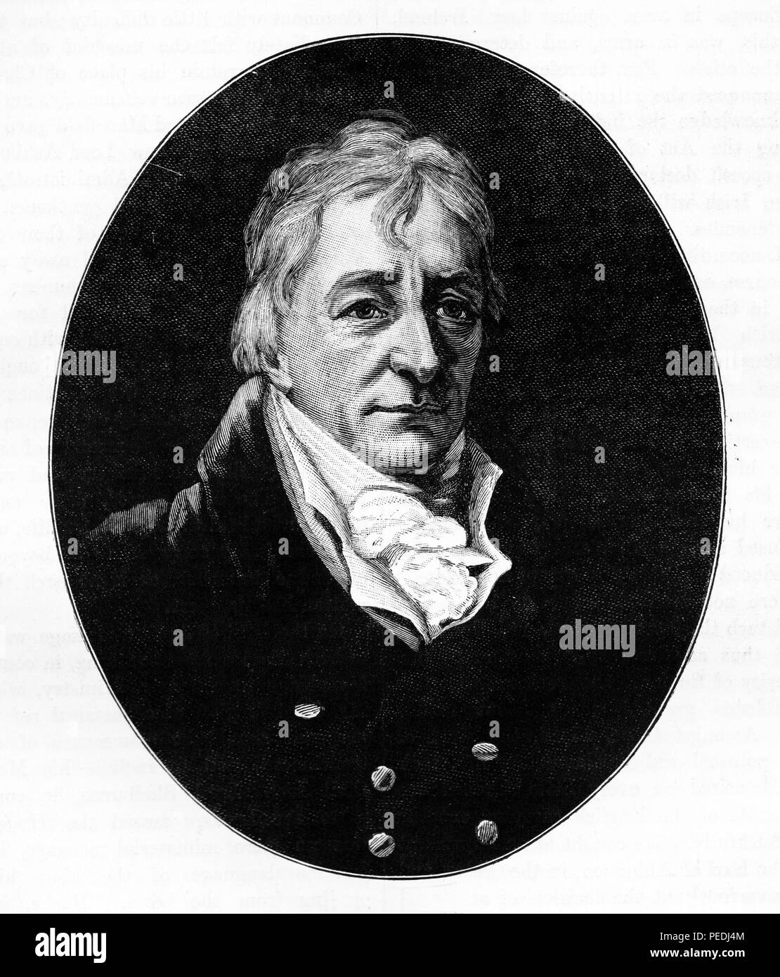 Portrait of Henry Grattan, Irish MP; Illustration from Cassell's History of England, King's Edition Part 34 - Stock Image