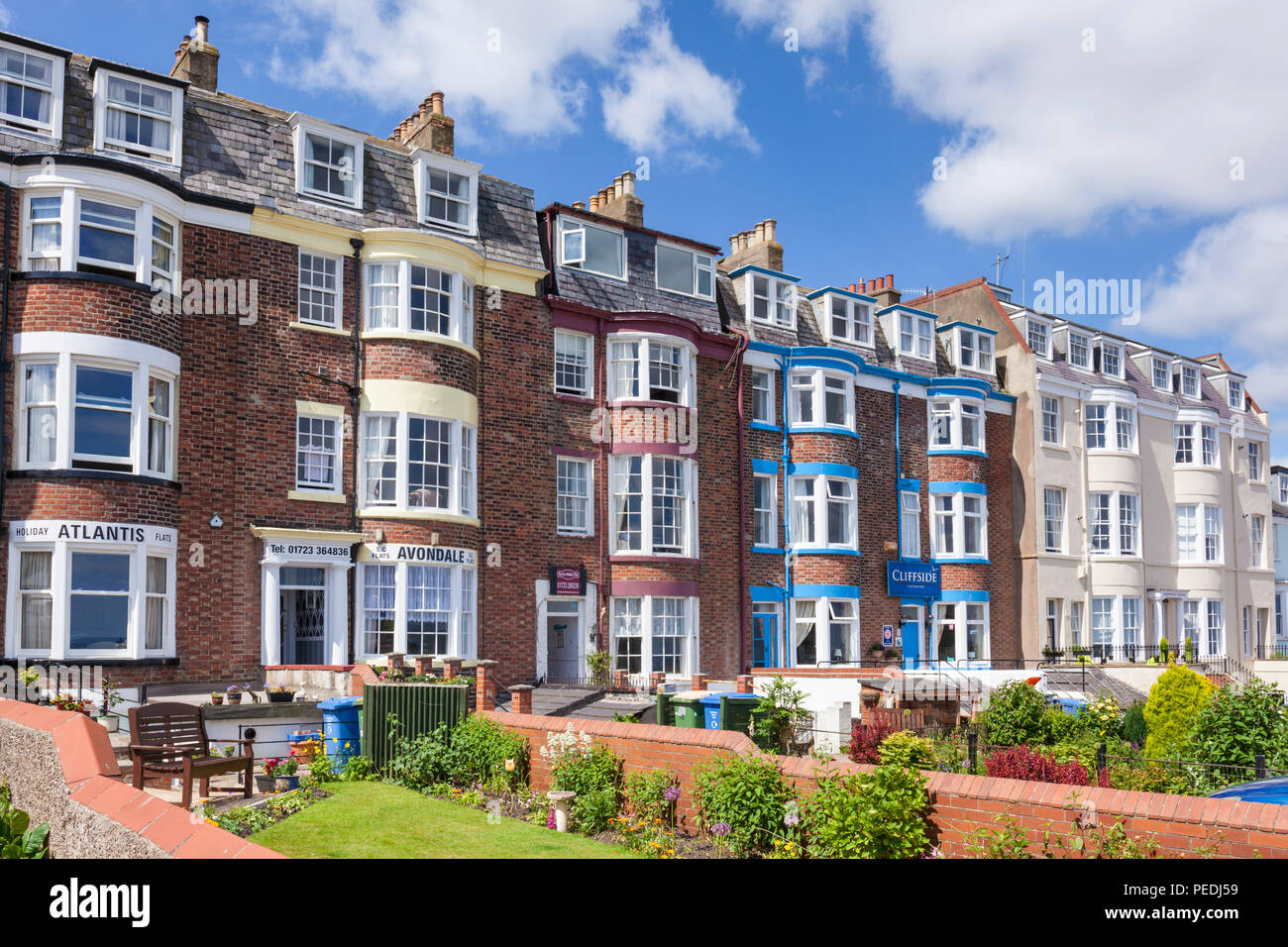 scarborough uk holiday lets holiday flats holiday apartments scarborough north bay yorkshire north yorkshire scarborough england uk gb europe - Stock Image