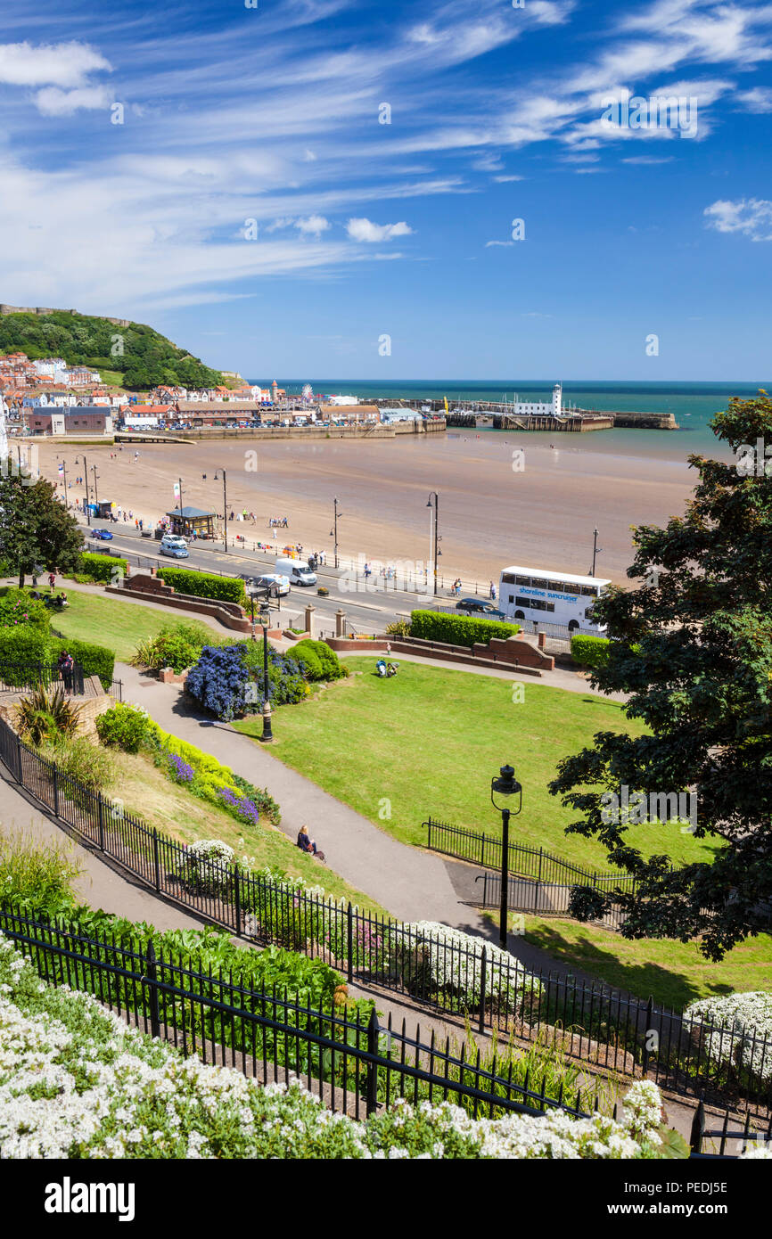 scarborough south bay and seafront scarborough uk scarborough beach yorkshire north yorkshire scarborough uk gb england europe - Stock Image