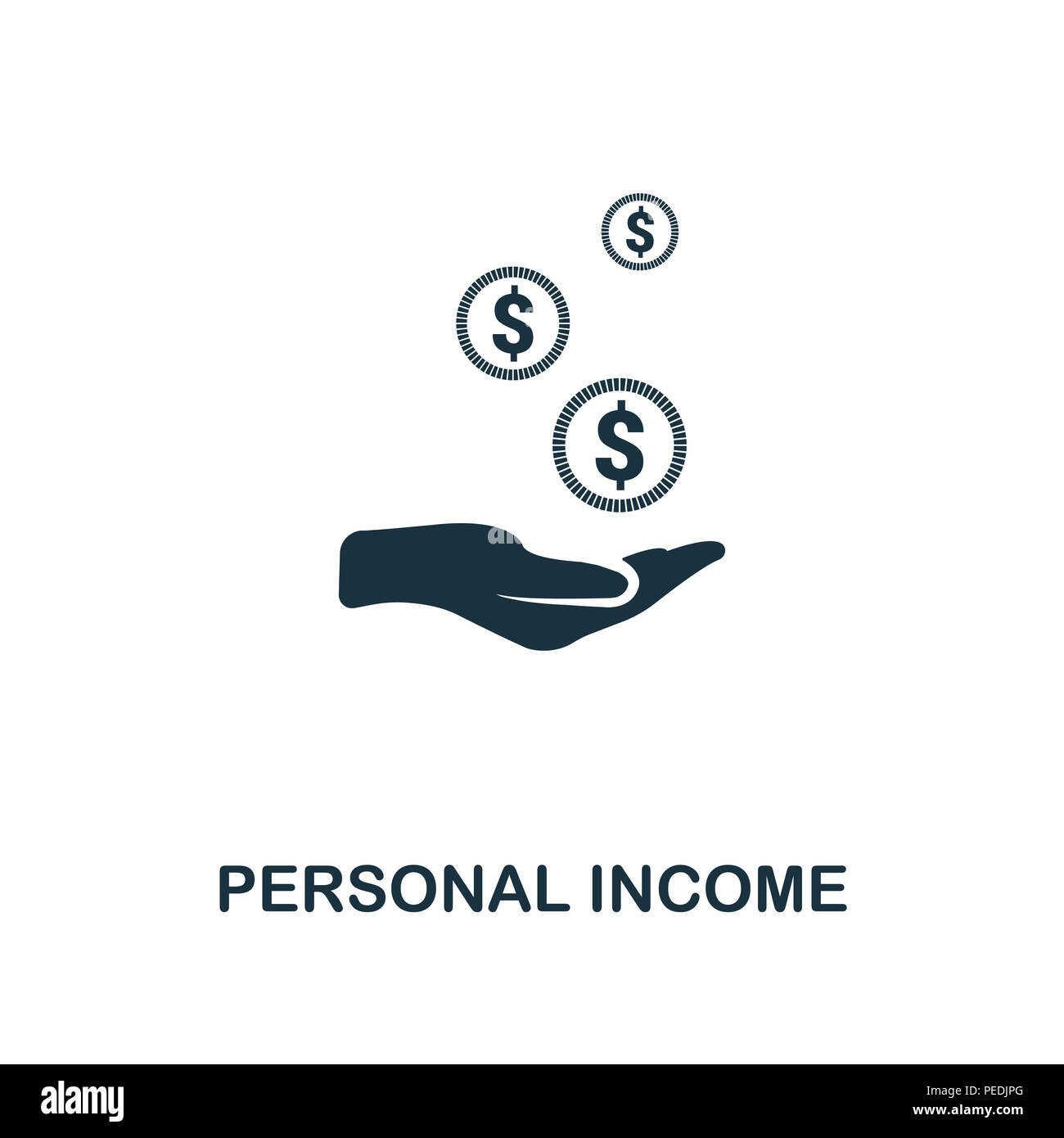 personal income creative icon simple element illustration personal