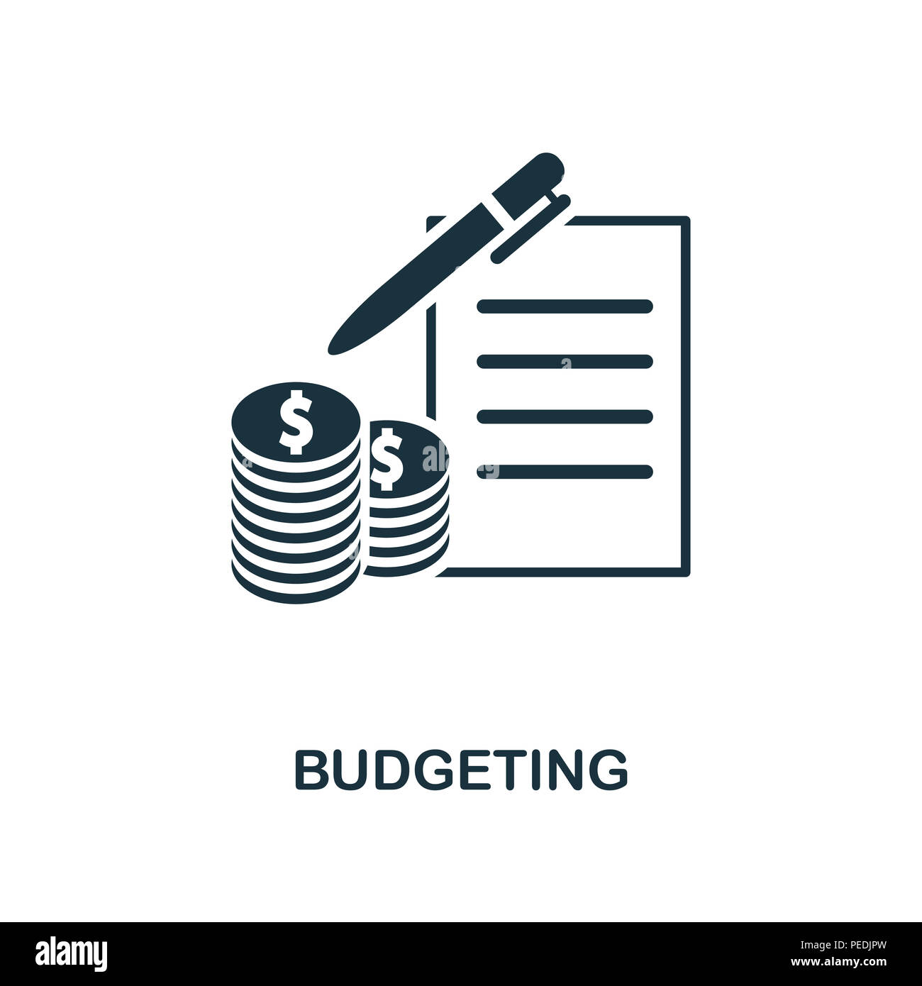 budgeting creative icon simple element illustration budgeting