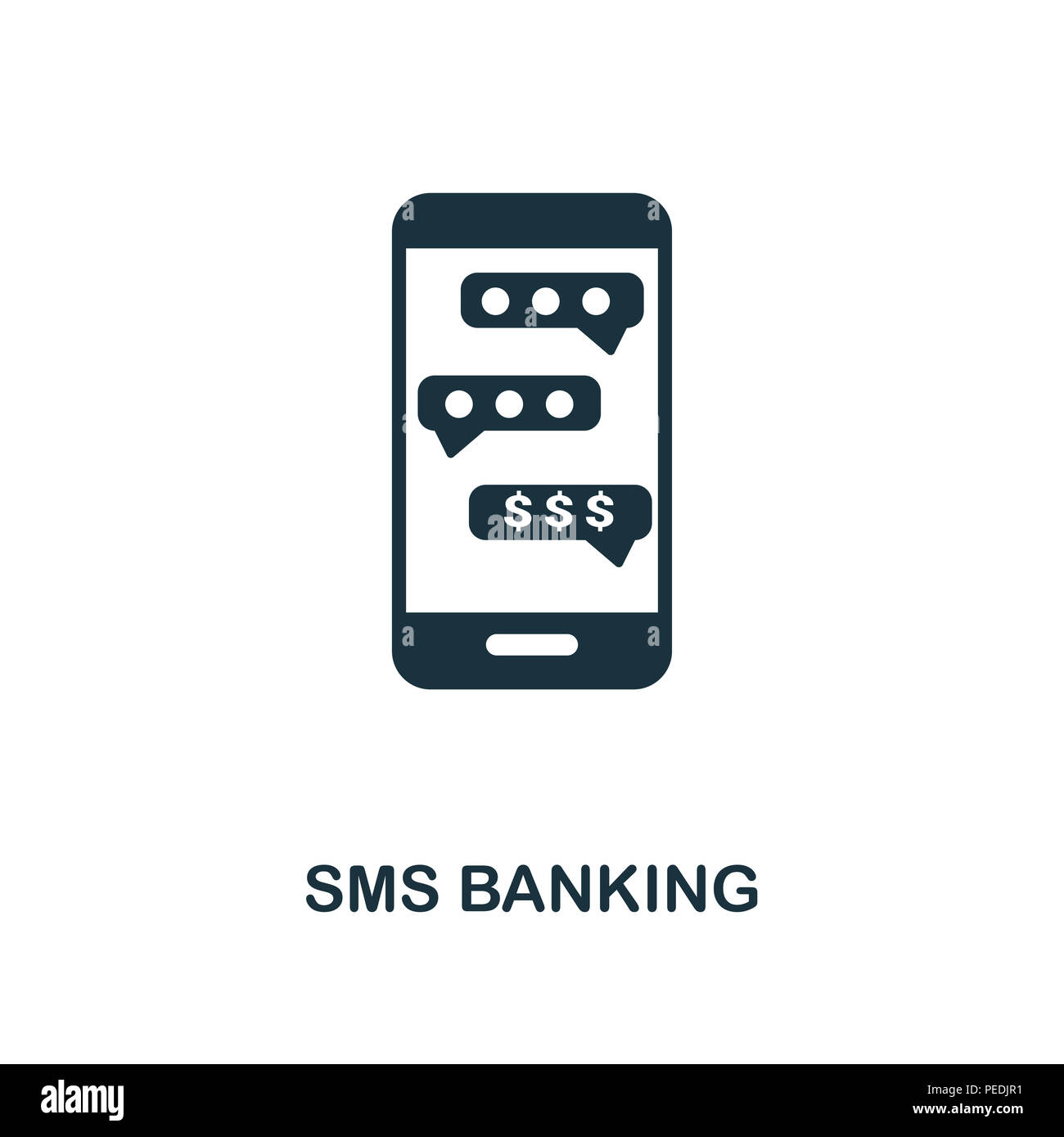 Sms Banking Creative Icon Simple Element Illustration Sms Banking