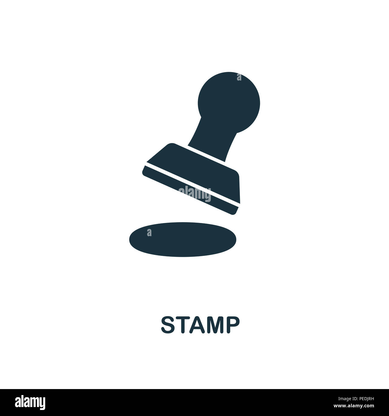 Stamp creative icon. Simple element illustration. Stamp concept symbol design from personal finance collection. Can be used for mobile and web design, - Stock Image