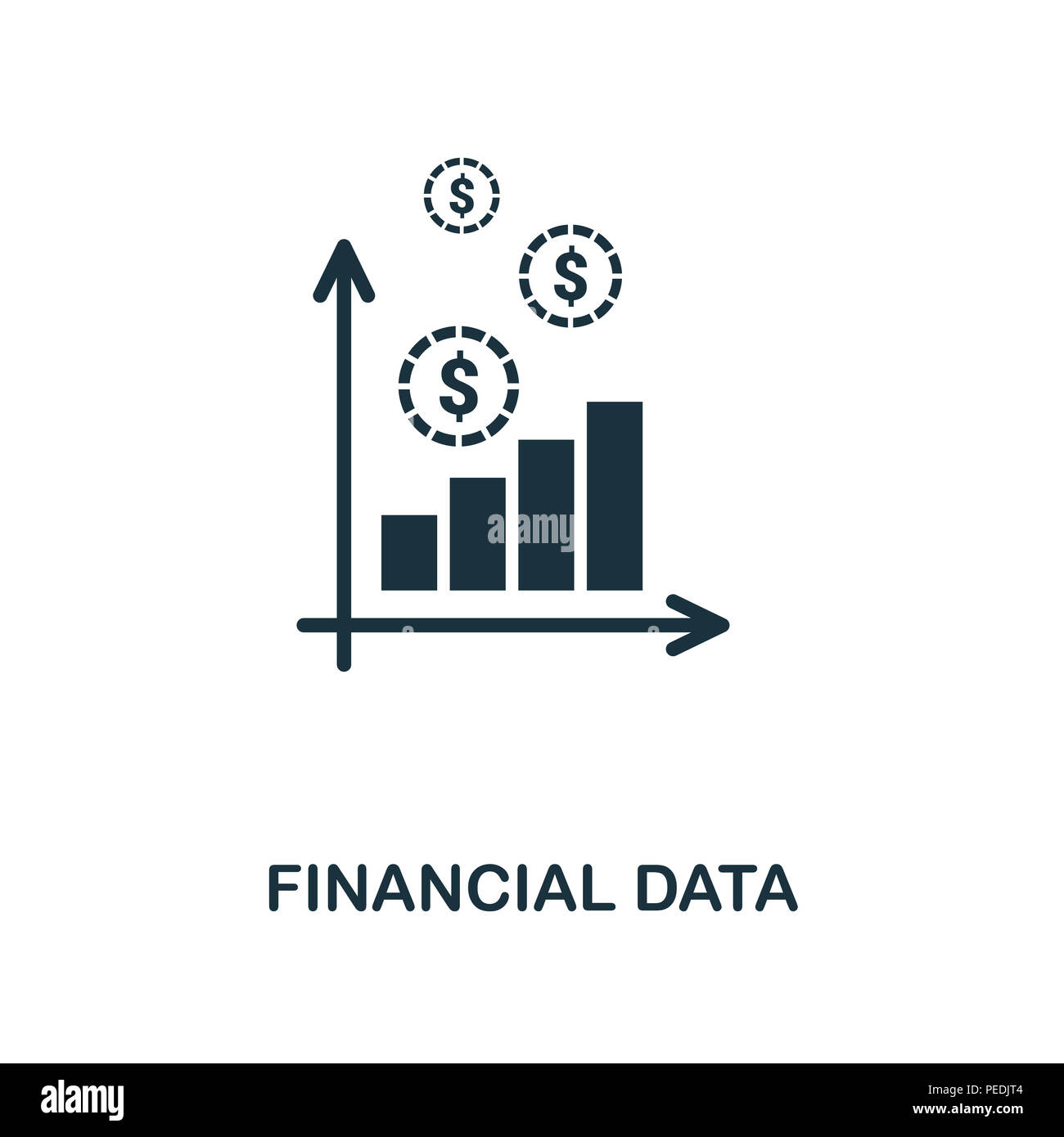 financial data creative icon simple element illustration financial