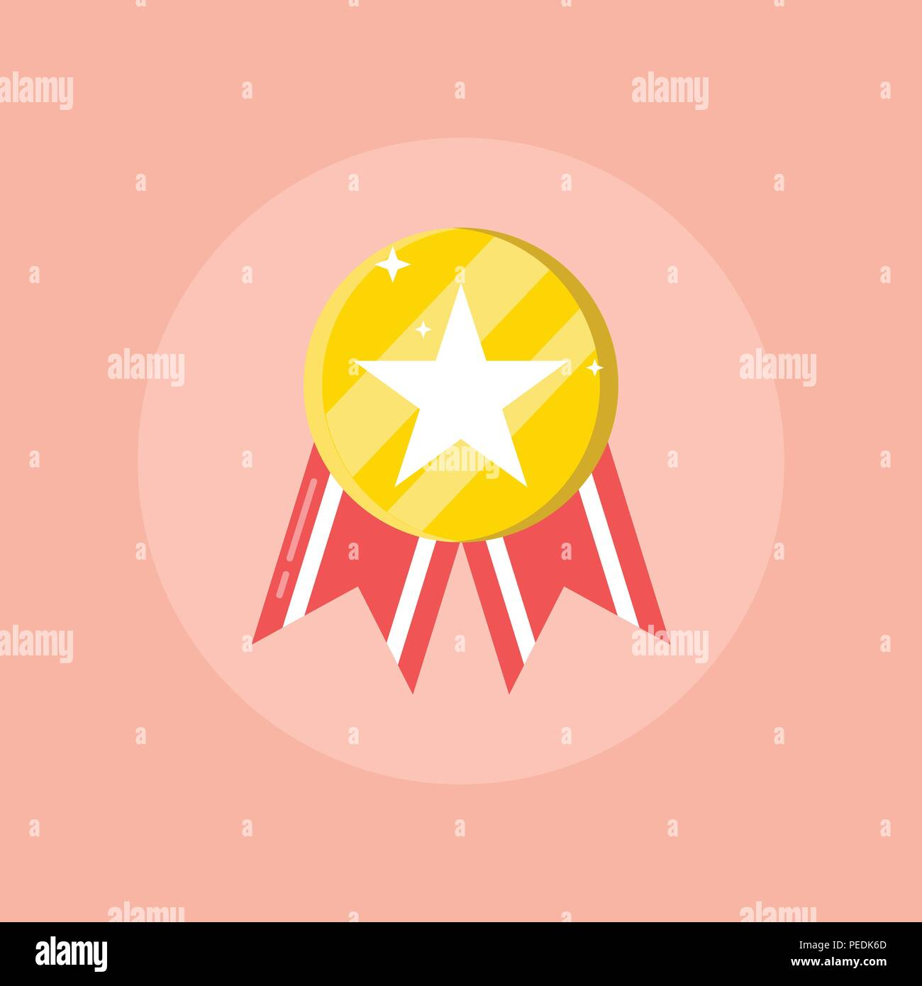 Gold medal icon  Shiny medal with star, Best choice badge