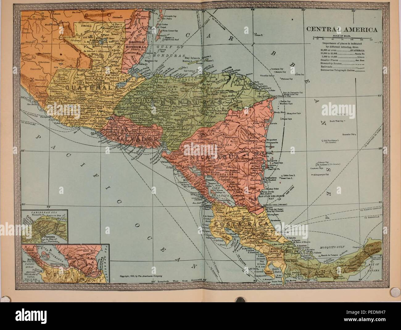 Map Of America To Color.Multi Color Early Twentieth Century Political And Physical Map Of