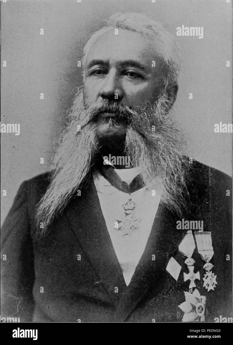 Minister of Foreign Affairs and large sugar planter JA Cummings, 1900. Courtesy Internet Archive. () - Stock Image