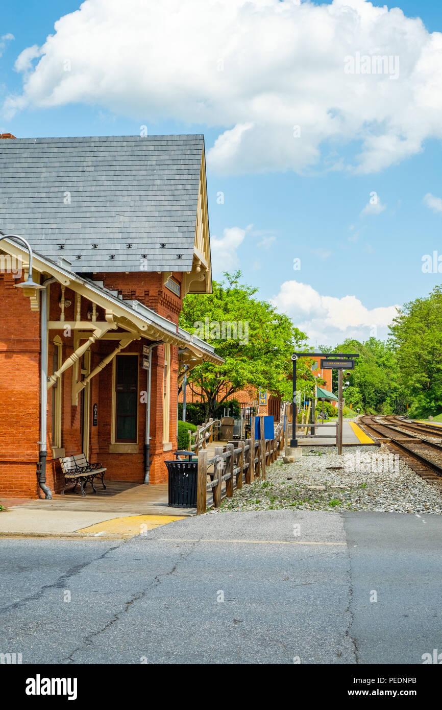 Gaithersburg Railroad Station, 5 South Summit Avenue, Gaithersburg, Maryland - Stock Image