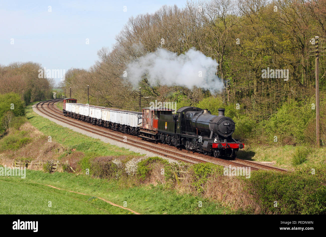 3850 Kinchley lane on the Great Central Railway 10.4.11 - Stock Image
