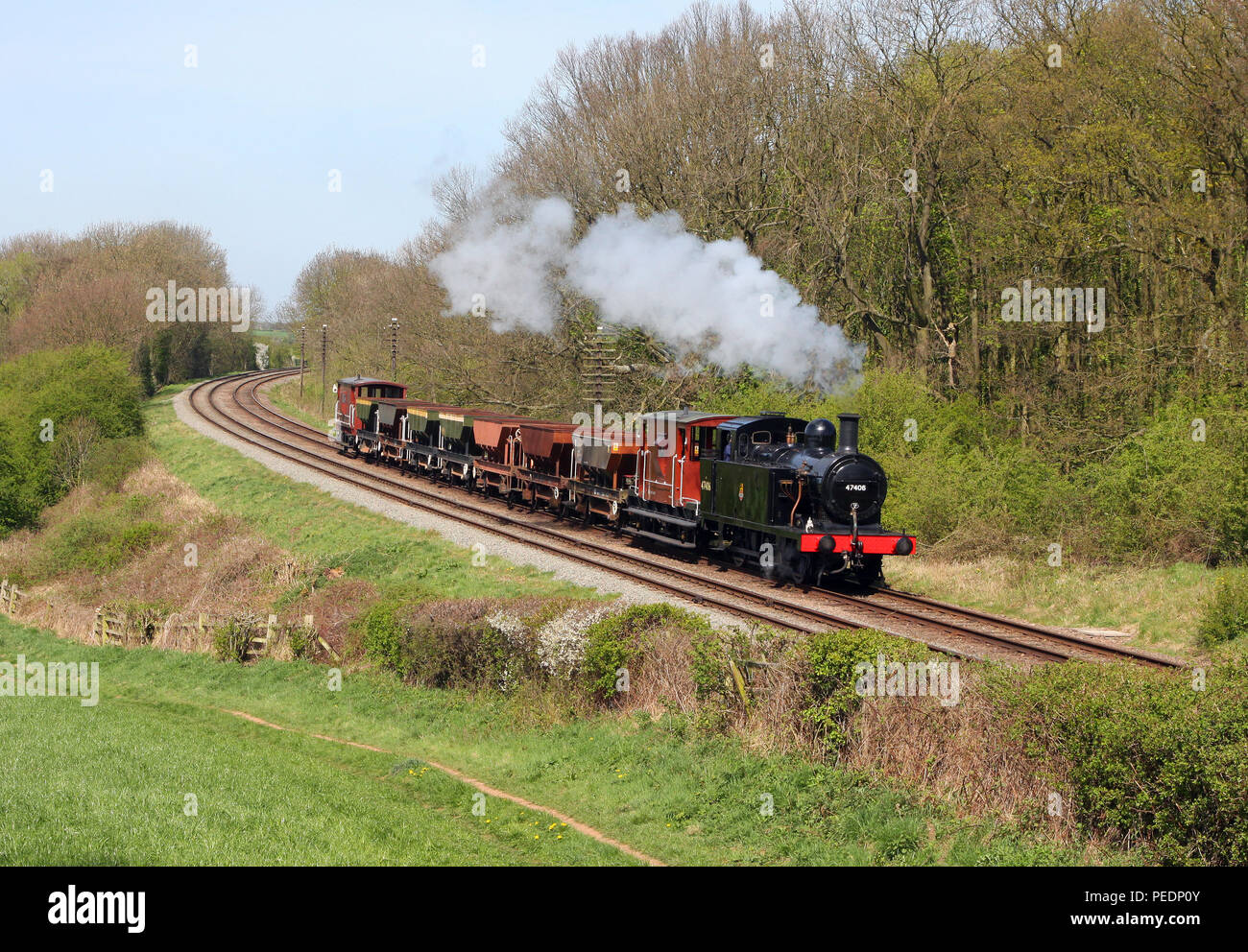 47406 Kinchley Lane  on the GCR 10.4.11 - Stock Image