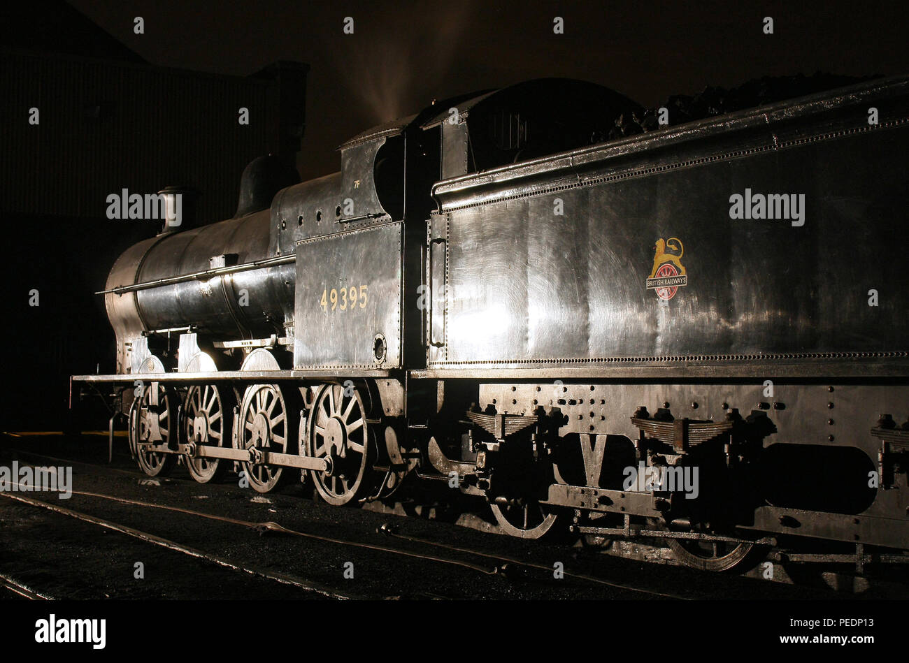 49395 on Buckley Wells shed Bury on the East Lancs railway 22.10.11 - Stock Image