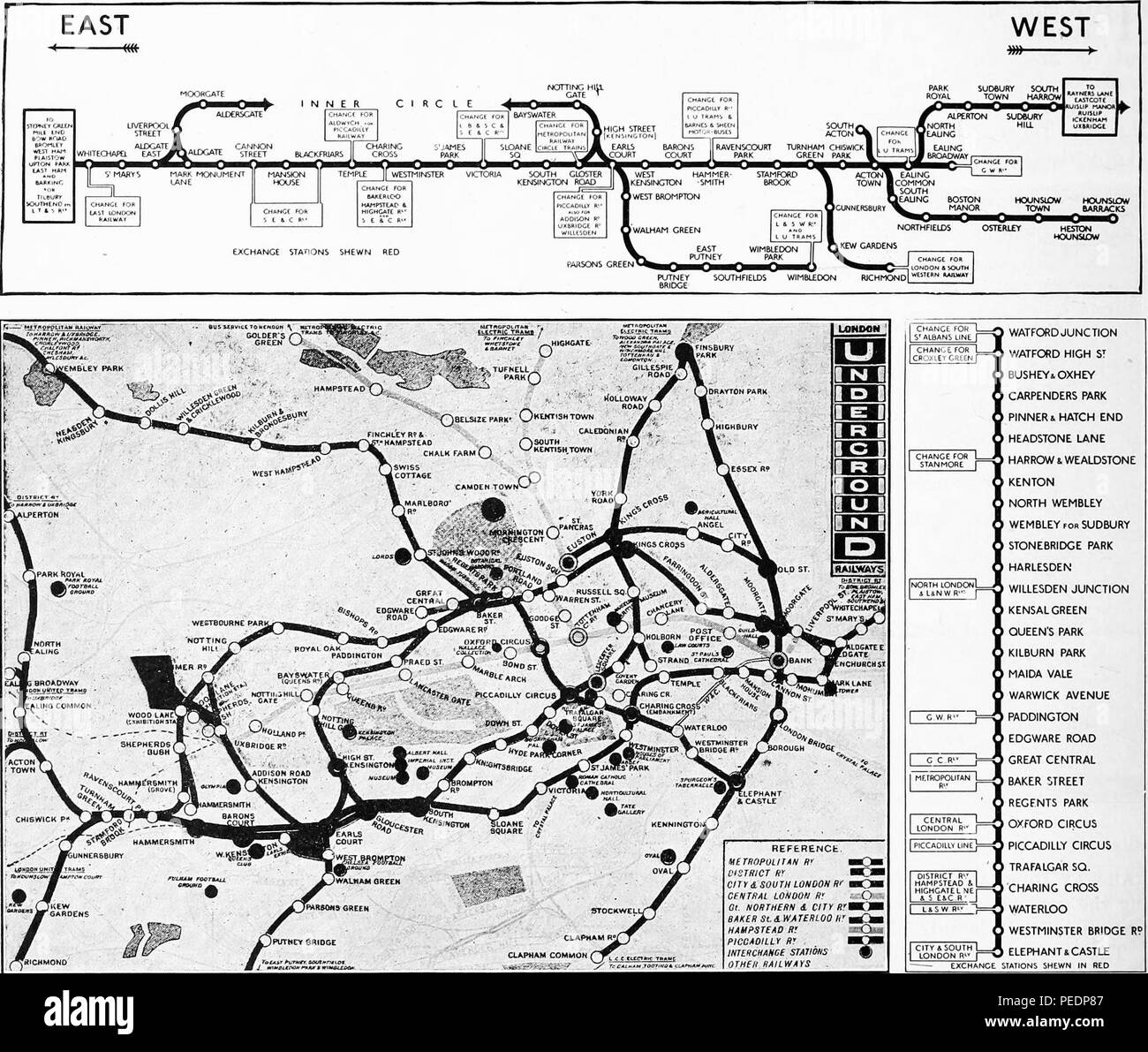 Map Of London Underground System.Black And White Maps Of The London Underground With The Entire
