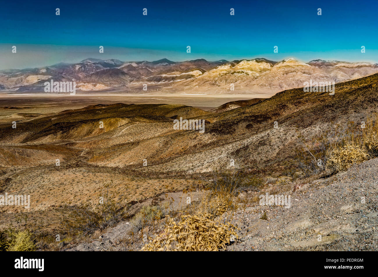 Photo taken in Death Valley Nationalpark in California and Nevada in United States of America. - Stock Image