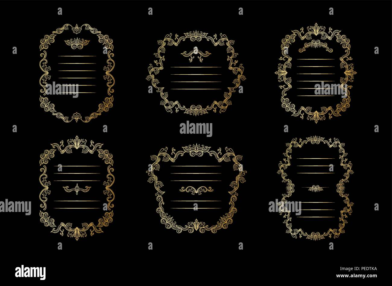 3f994ac48348 Gold Frames Stock Vector Images - Alamy