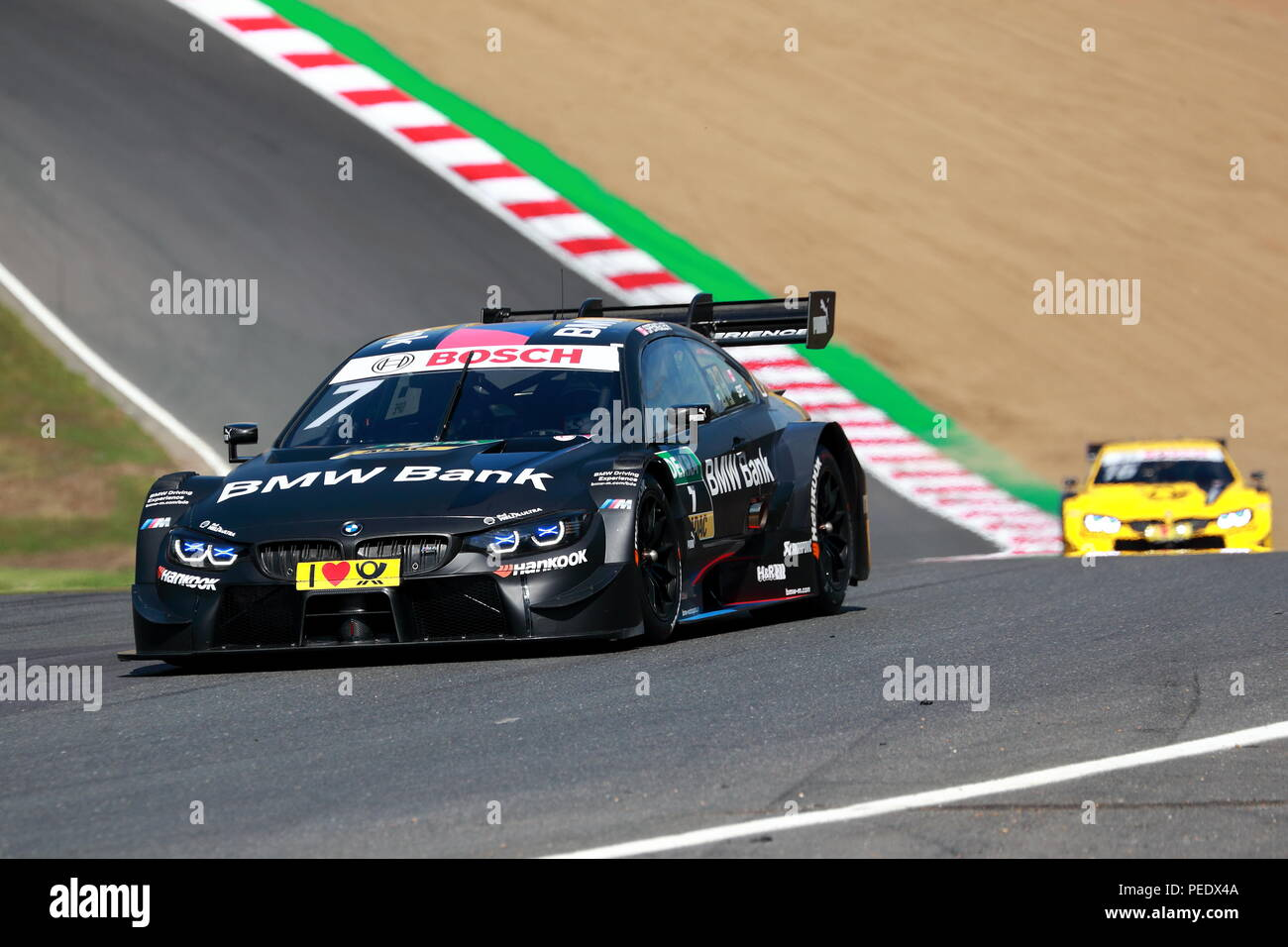 Bruno Spengler in his BMW at the DTM Race 2018 at Brands Hatch Circuit, UK - Stock Image