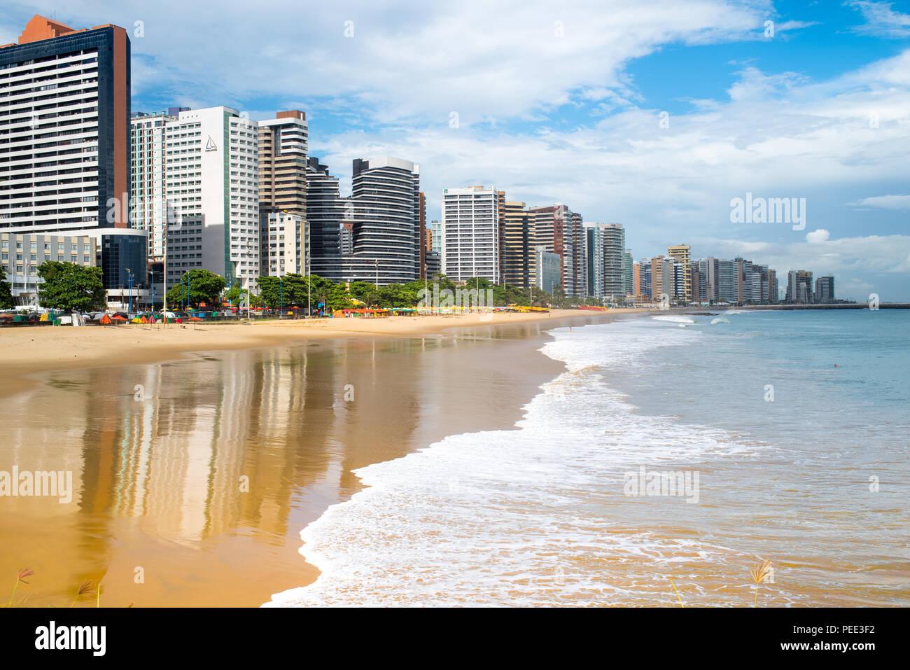FORTALEZA, BRAZIL - MARCH 1, 2018: Coast Line of Fortaleza, Ceara State, city of northeast of Brazil . Stock Photo