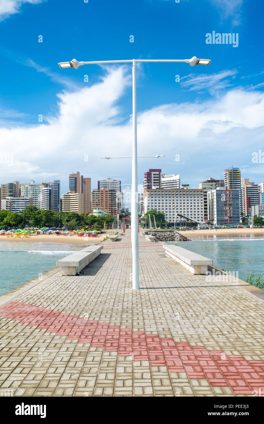 FORTALEZA, BRAZIL - MARCH 1, 2018: Coast Line of Fortaleza, Ceara State, city of northeast of Brazil . Stock Photo