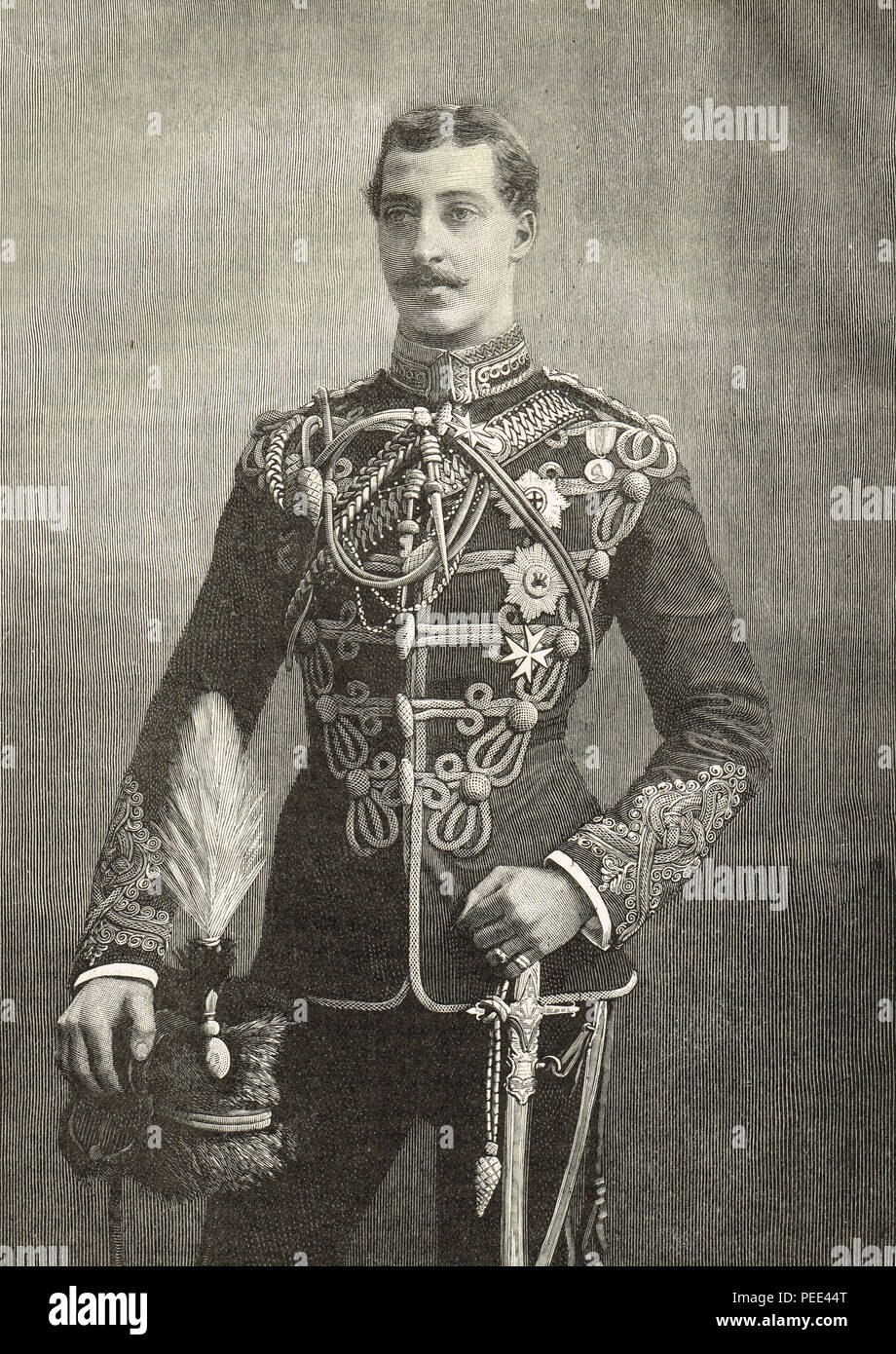 Prince Albert Victor, Duke of Clarence and Avondale, eldest child of the Prince of Wales later King Edward VII, second in line to the British throne, died before his father - Stock Image