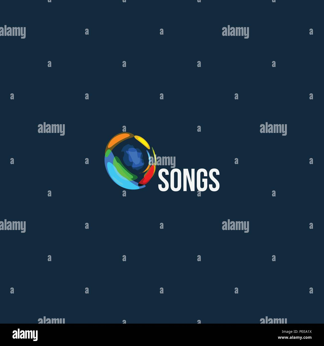 Songs abstract vector logo  Audio wave design icon  Music play