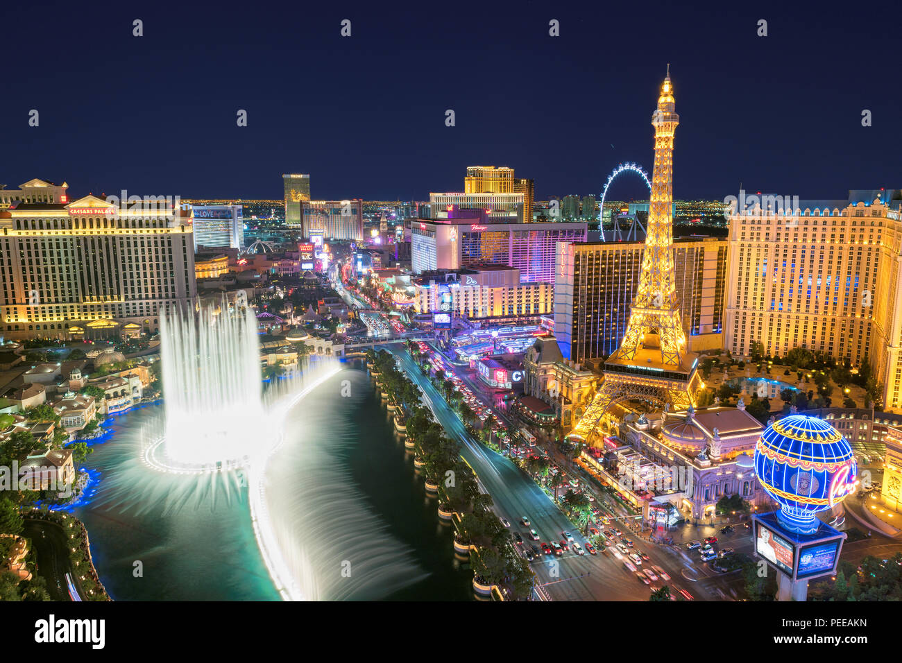 Las Vegas strip skyline - Stock Image