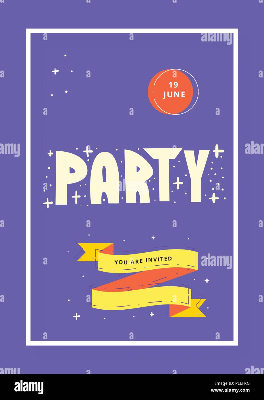 party vertical banner template event flyer invitation vector