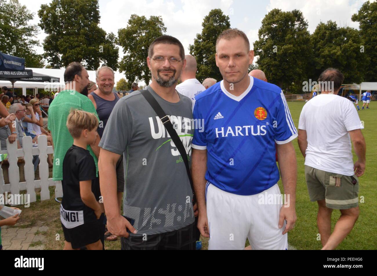 rothenburg ol gdr football star uwe Sturm 2018 Photo Wehnert - Stock Image