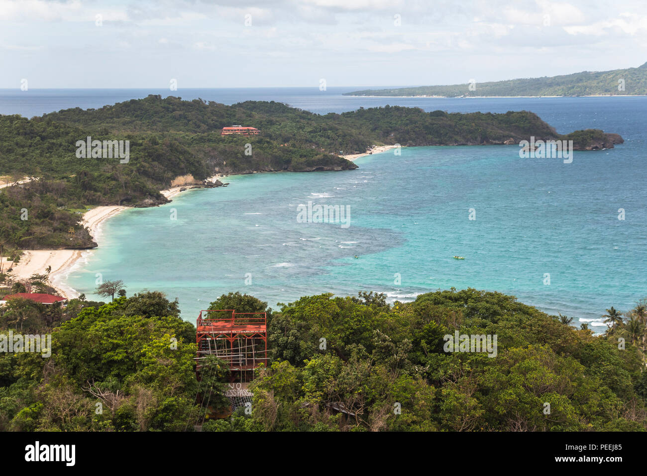 View over the island of boracay on the philippines Stock Photo