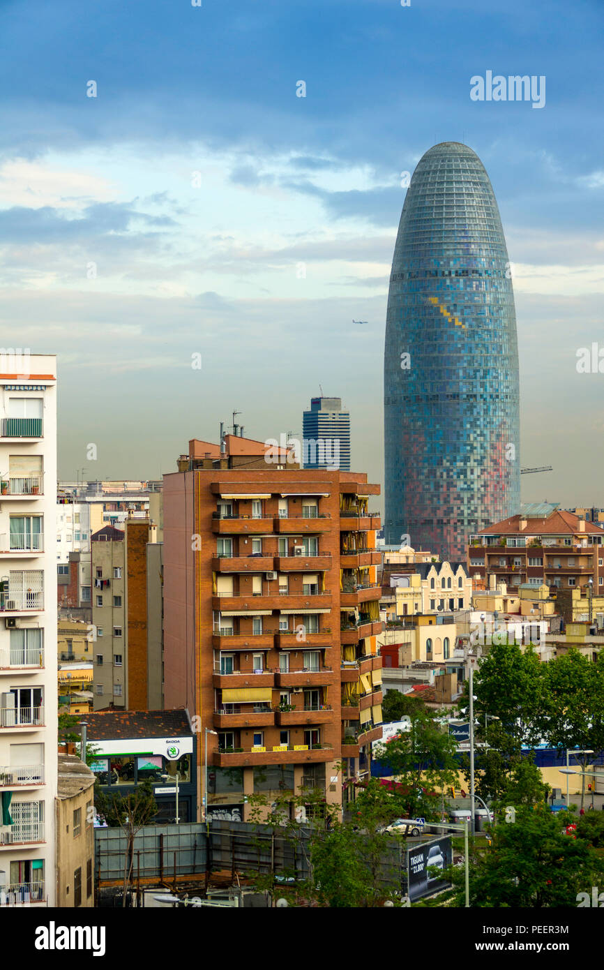 Torre Agbar Modern Office Building Barcelona Spain The Cosmopolitan