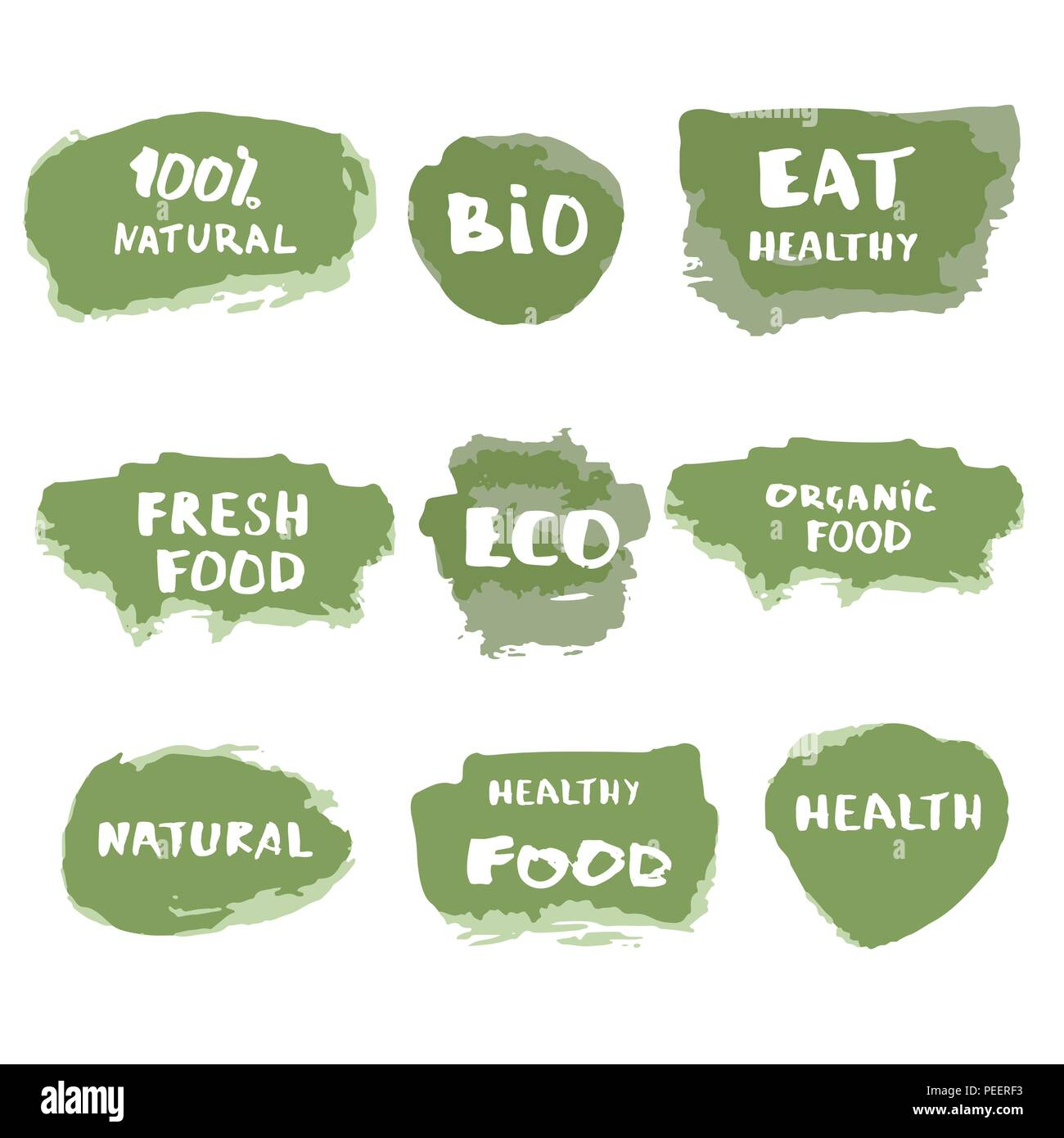 Healthy Living Poster Flyer Background Cut Out Stock Images