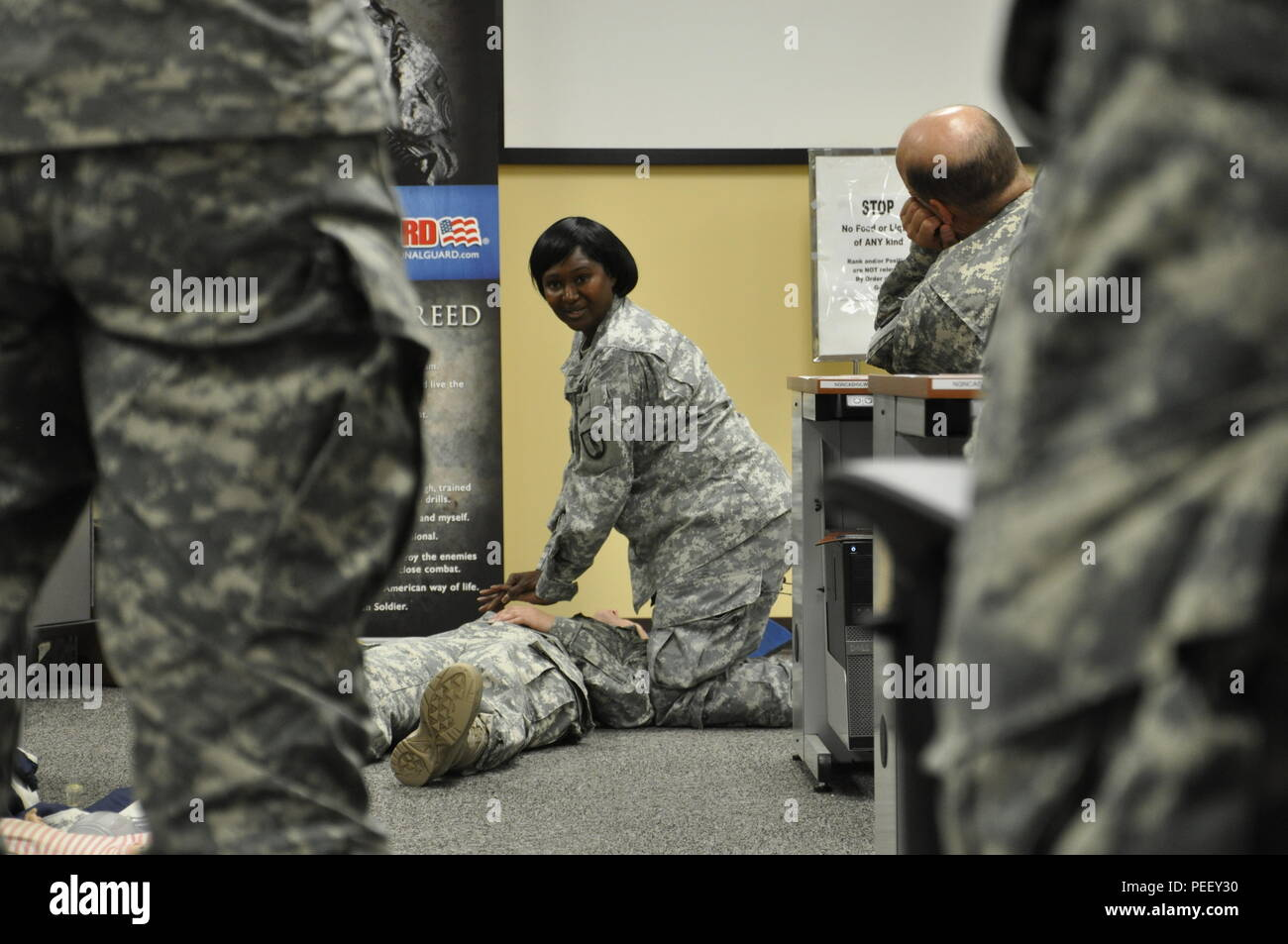 Us Army Staff Sgt Harriet Davis A Medical Instructor Assigned To