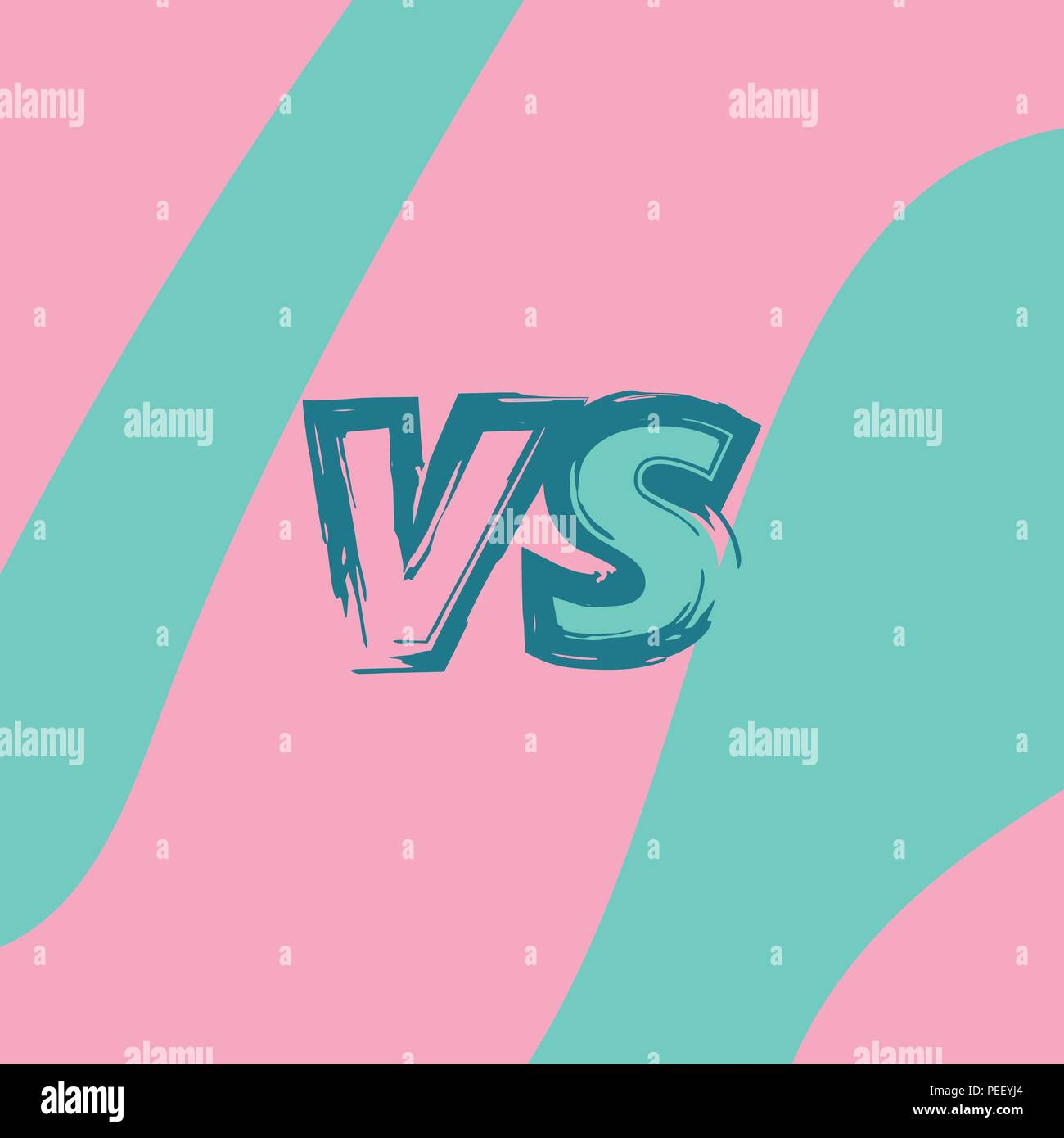 Versus Sign On Divided Wave Background Vs Screen Decorative