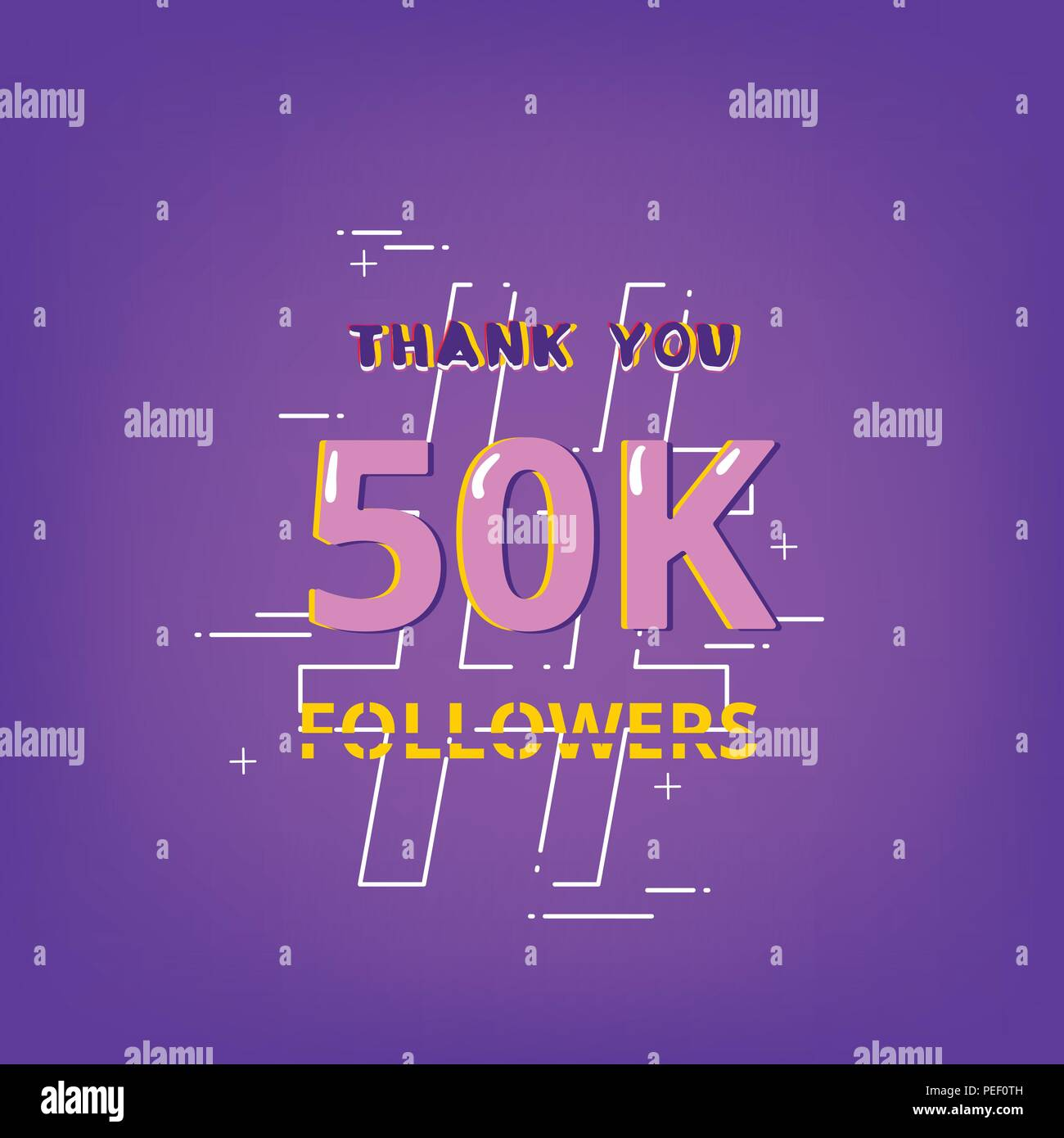 50k followers thank you phrase with random items template for