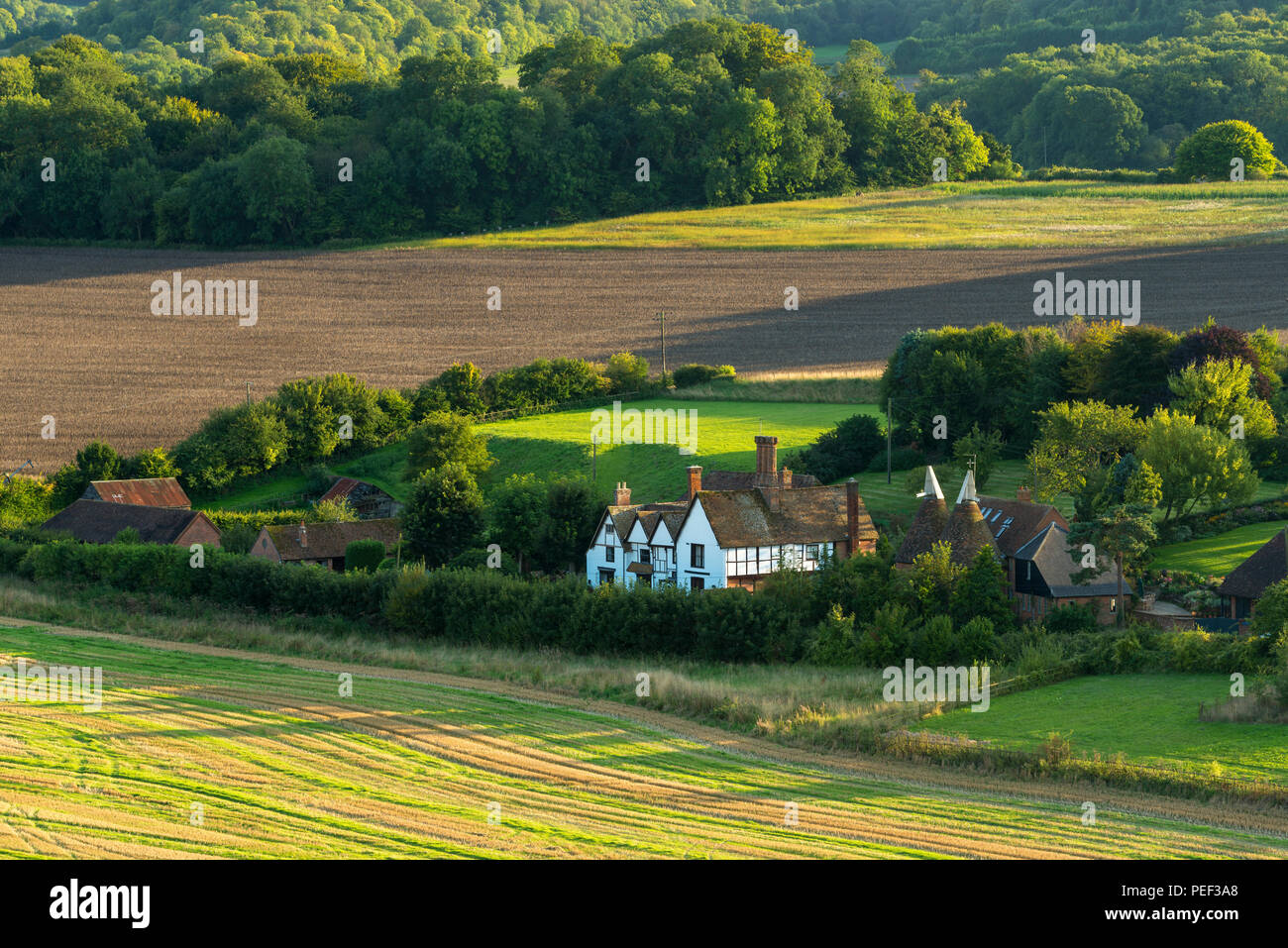 Winchcombe Manor, a grade II listed country house set in the Kent Downs Area of Outstanding Natural Beauty. - Stock Image