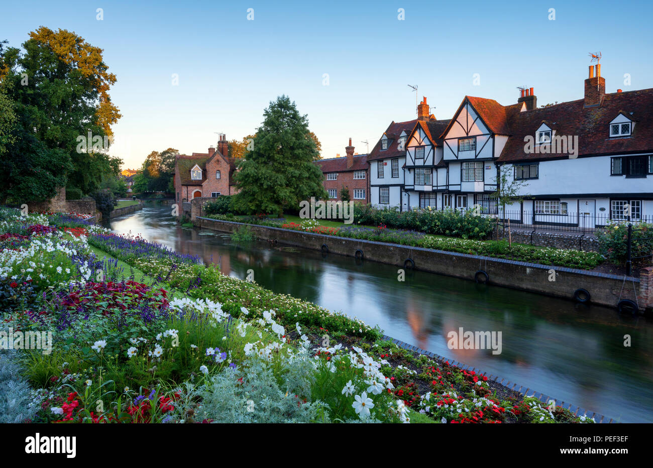 The beautiful Westgate Gardens in the medieval city of Canterbury. - Stock Image