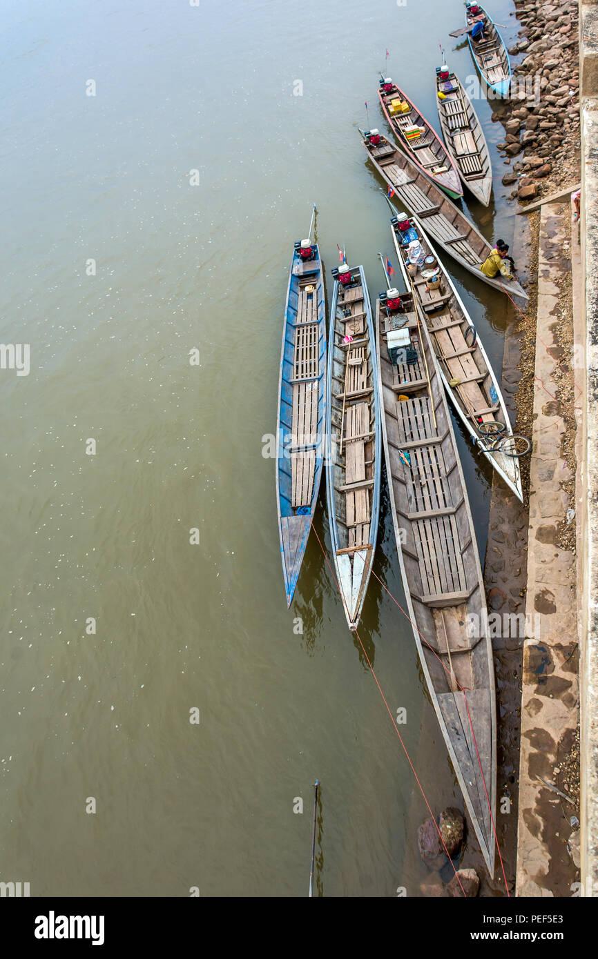 Mekong River, Khemarat District, Ubon Ratchathani, Thailand - Stock Image