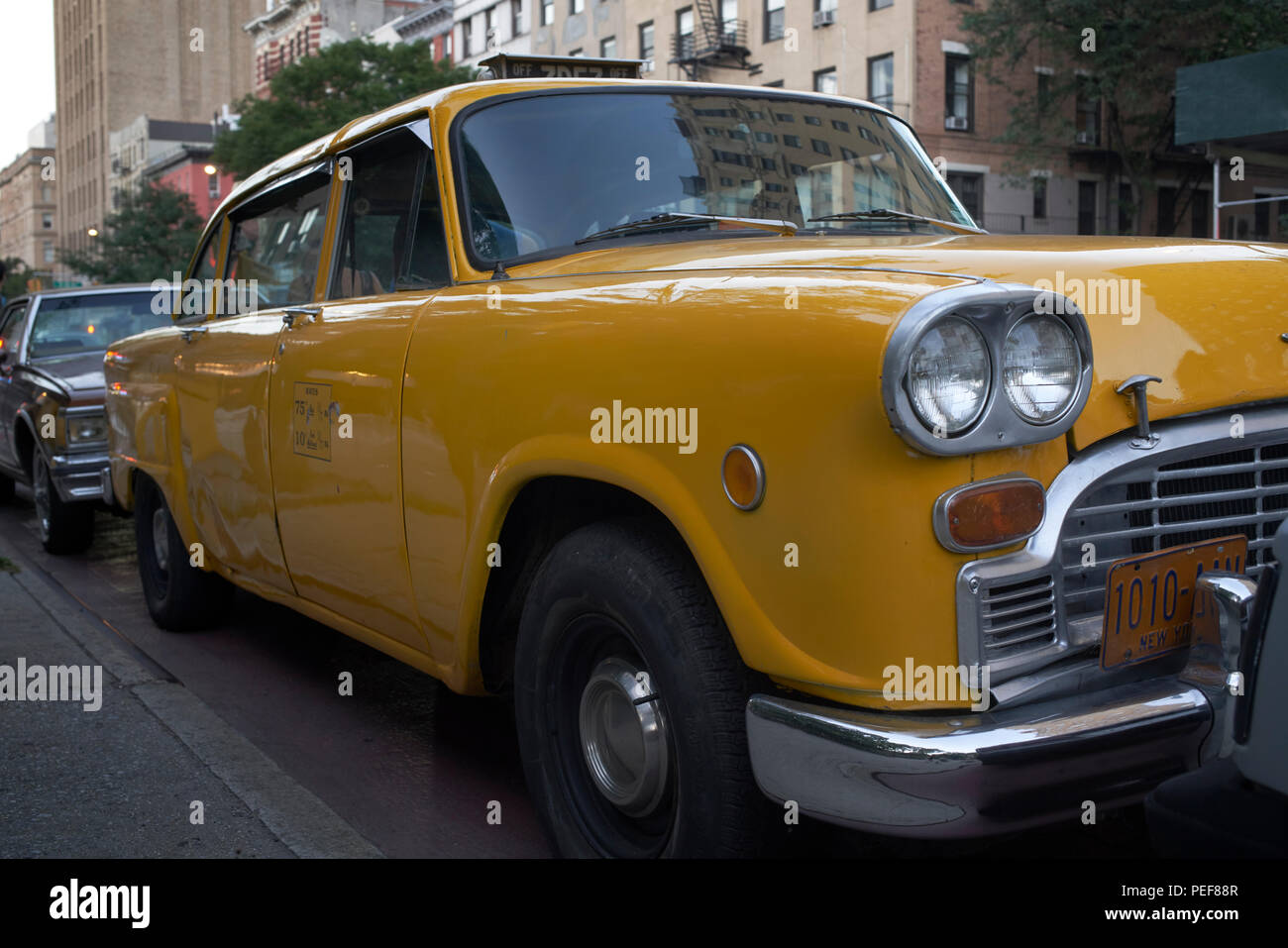 Front of a vintage American Checker taxicab in New York City Stock Photo