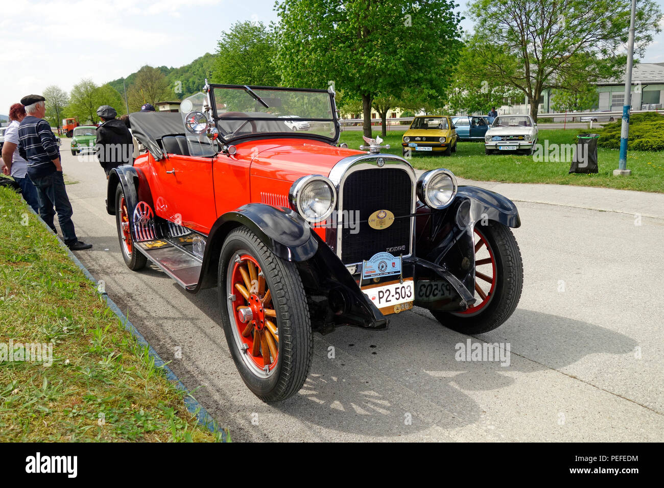 'Roadster' car model manufactured 1924 by Dodge Brothers Company.Exhibited in Sentjur, Slovenia. - Stock Image