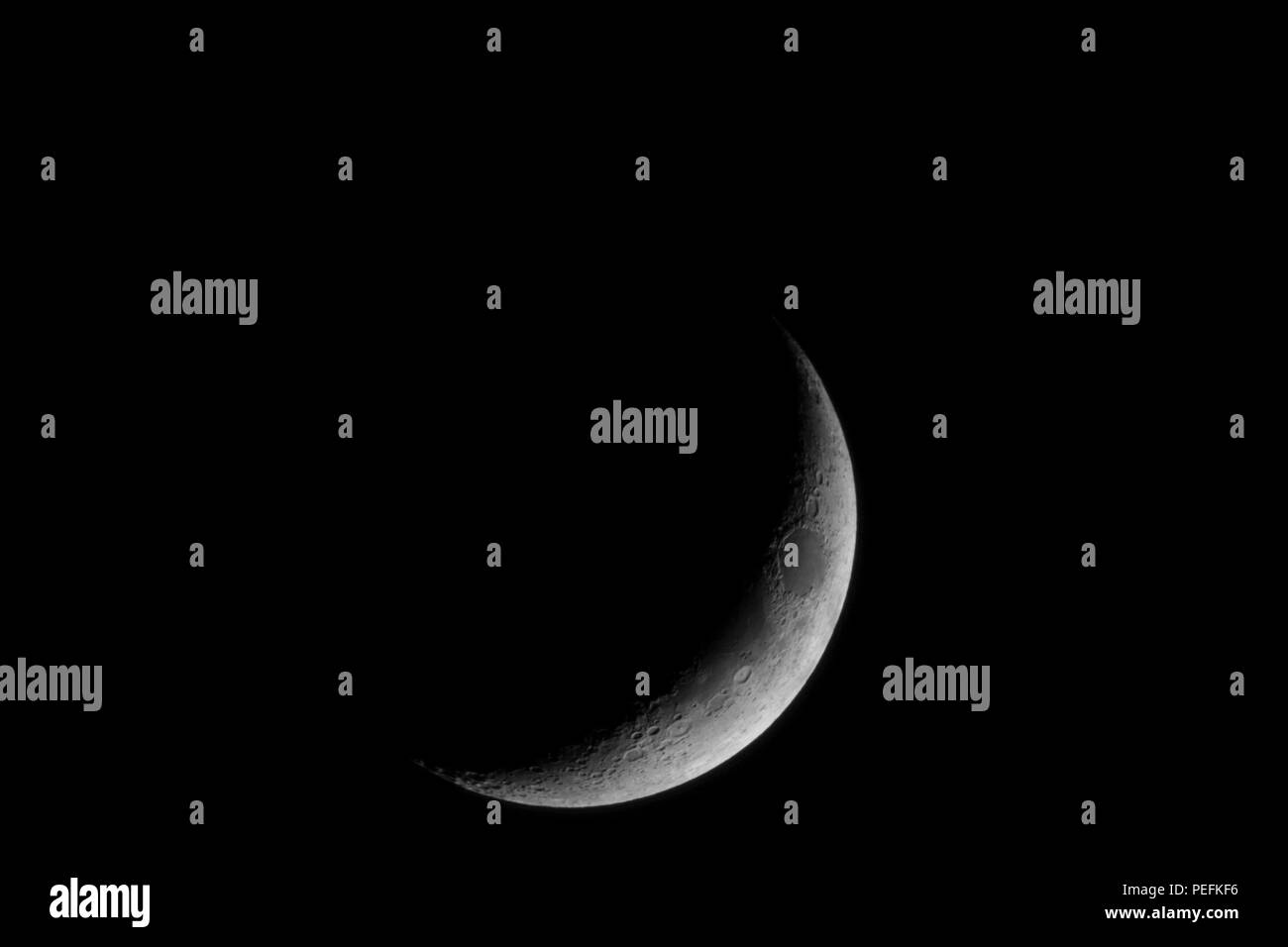 Moon and Venus - Stock Image